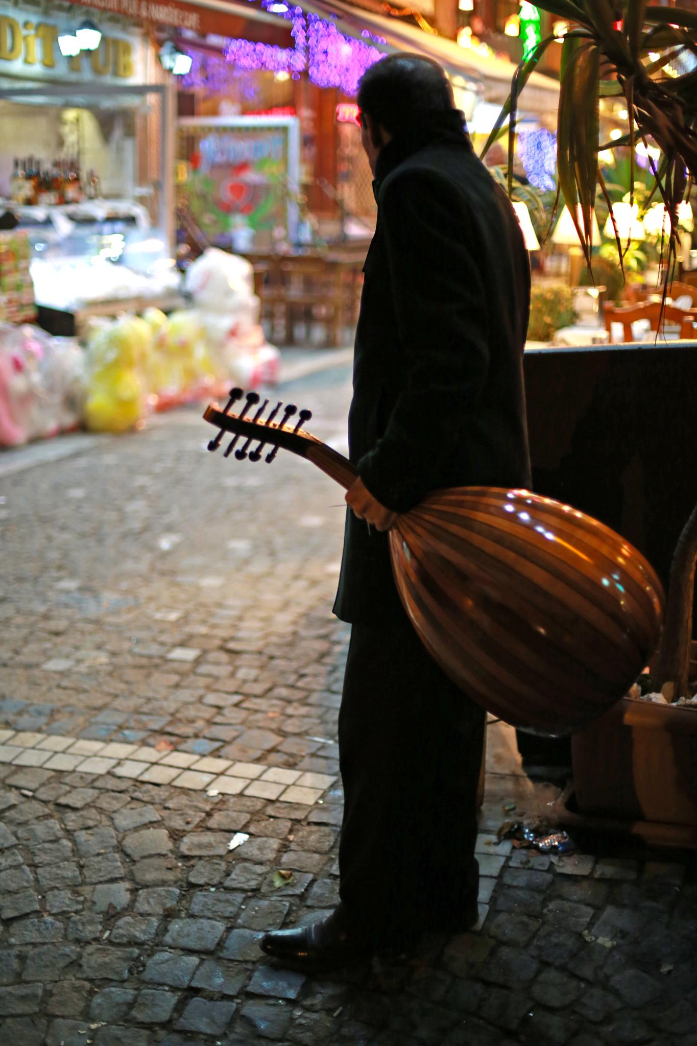 The Oud instrument player by bechara.yared