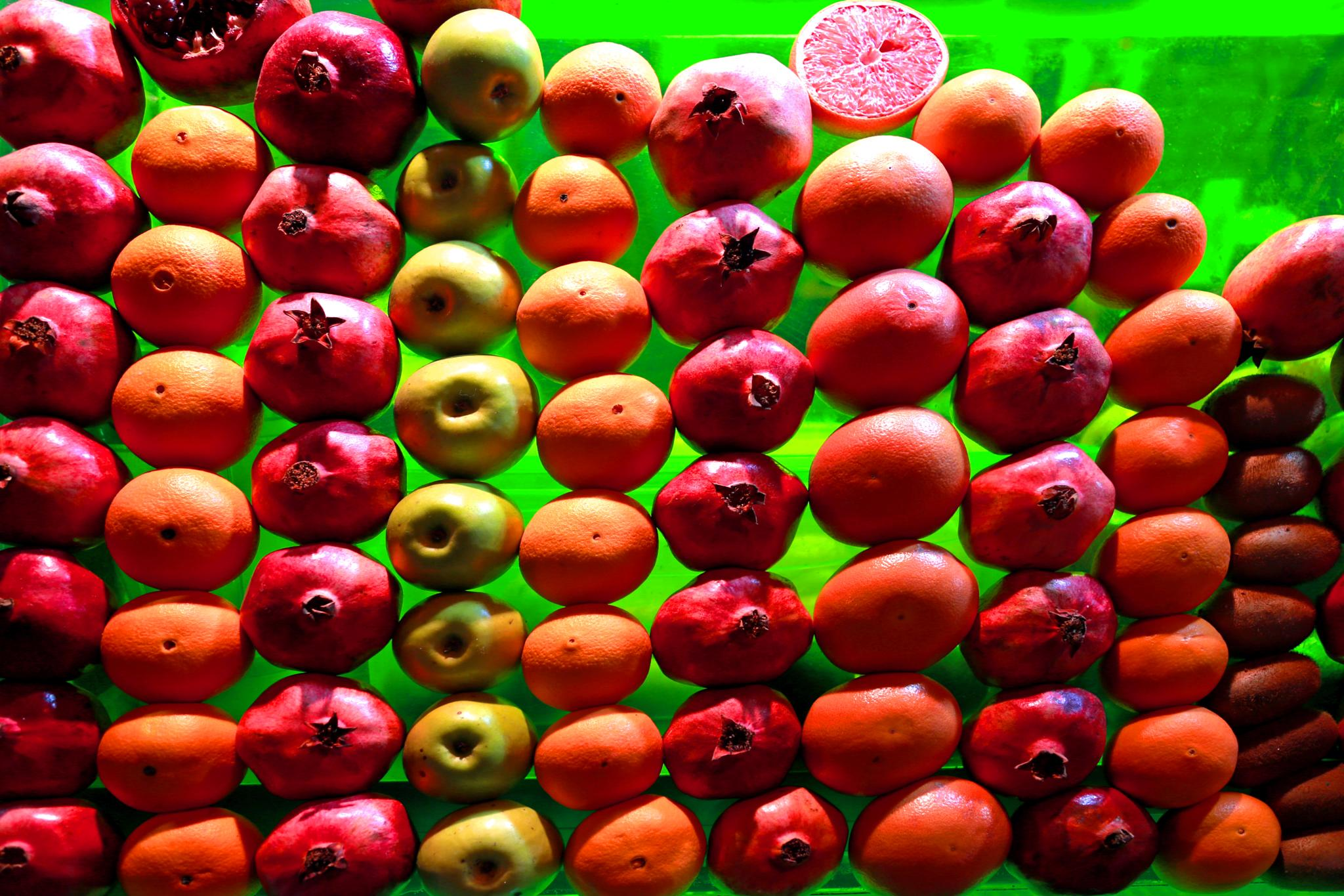 Colorful fruit display by bechara.yared