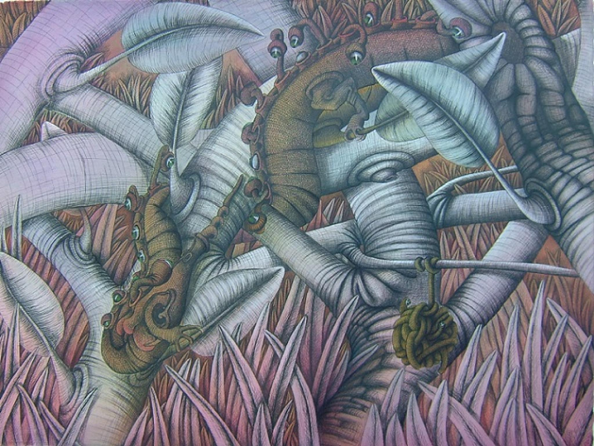 The Jungle watercolor and ink by Al by gerardo.alfonsopiquera
