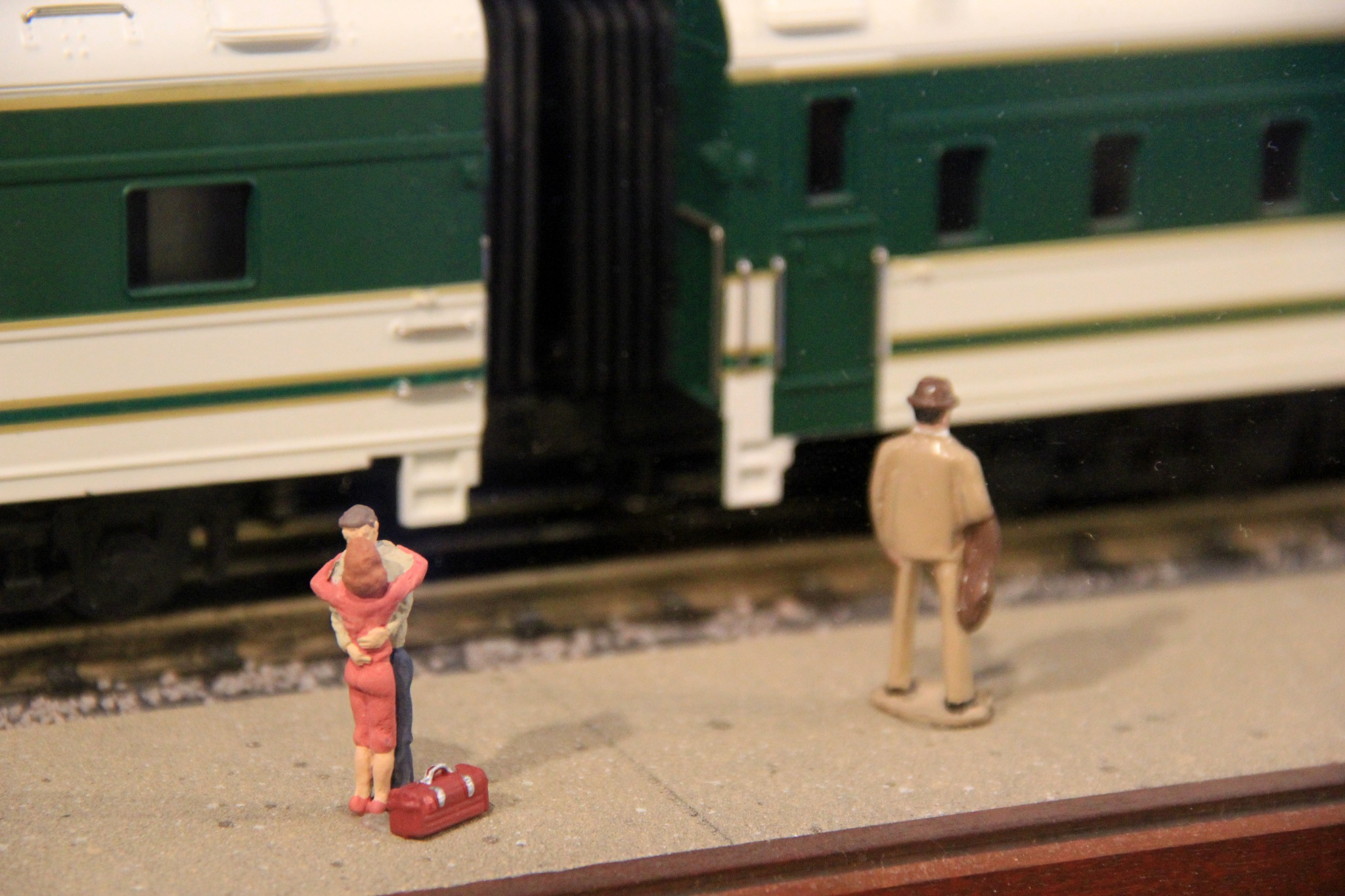 He kissed her goodbye, then climbed onto the train by theresaSt.john