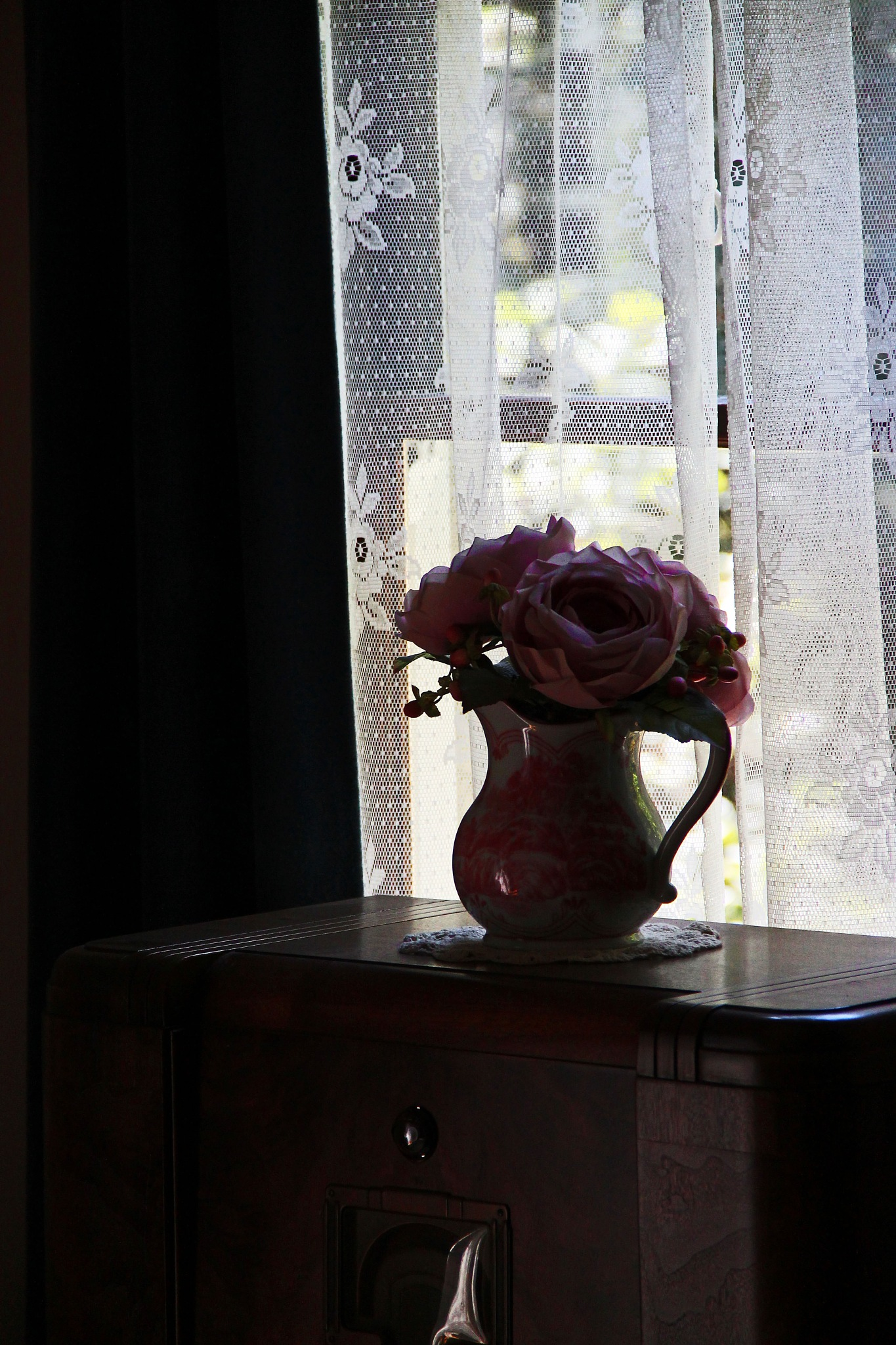 Pitcher of Roses by christena.anderson