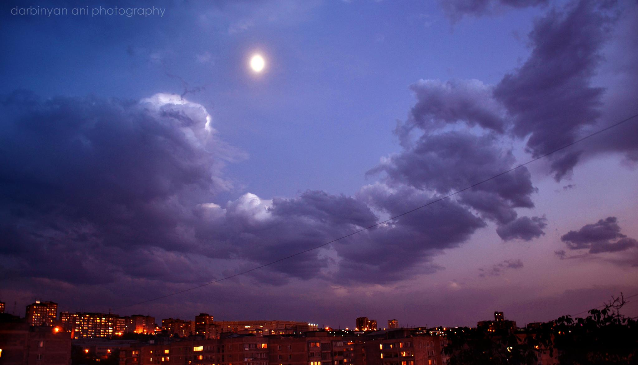sky after sunset by ani darbinyan