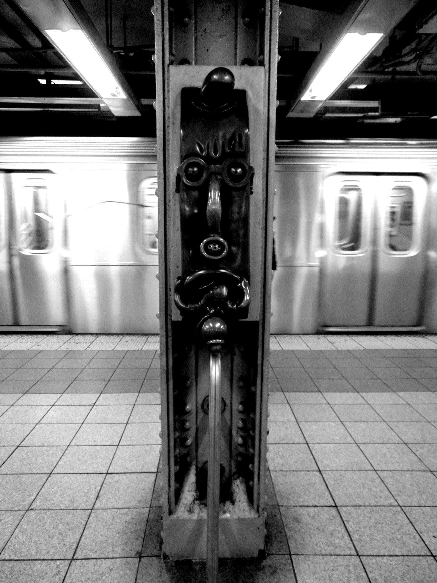 Photo in Cityscape #14th street #subway #new york #black and white