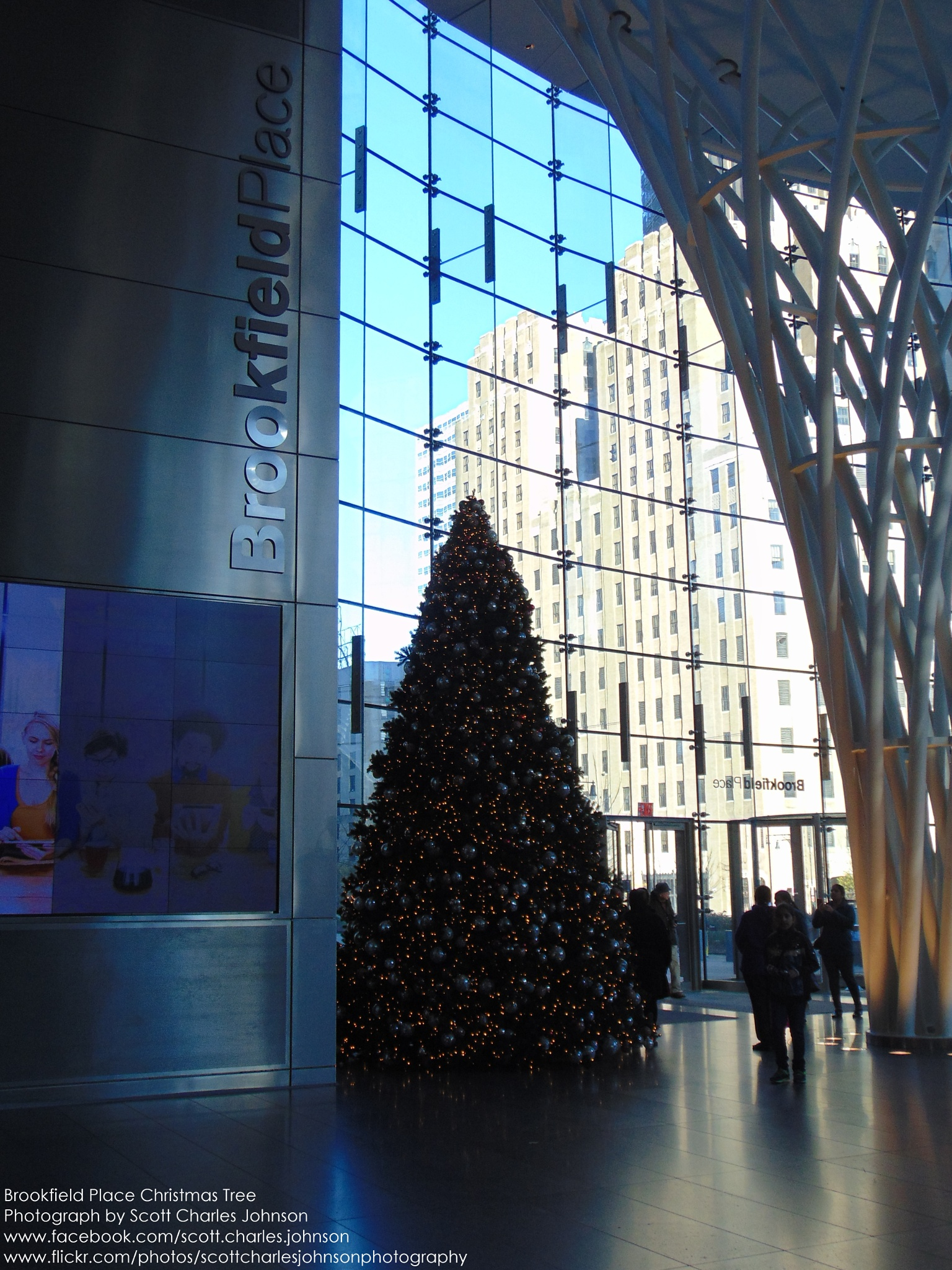 Brookfield Place Christmas Tree by Scott Charles Johnson