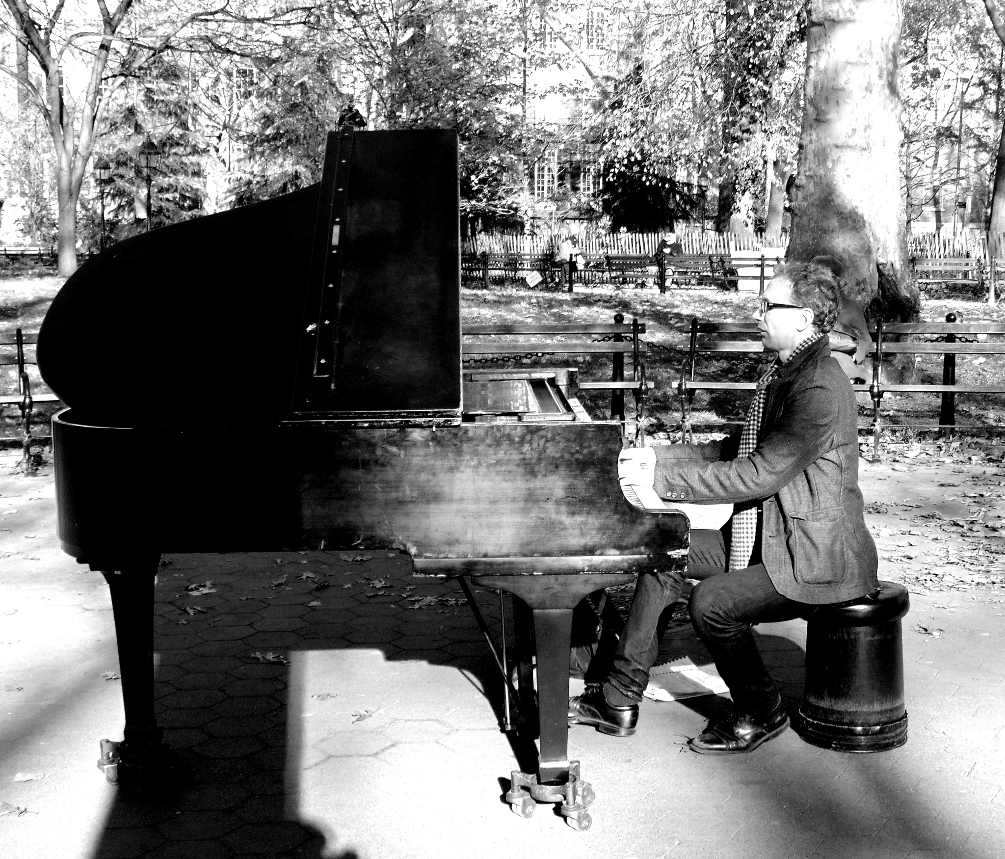Piano In The Park by Scott Charles Johnson