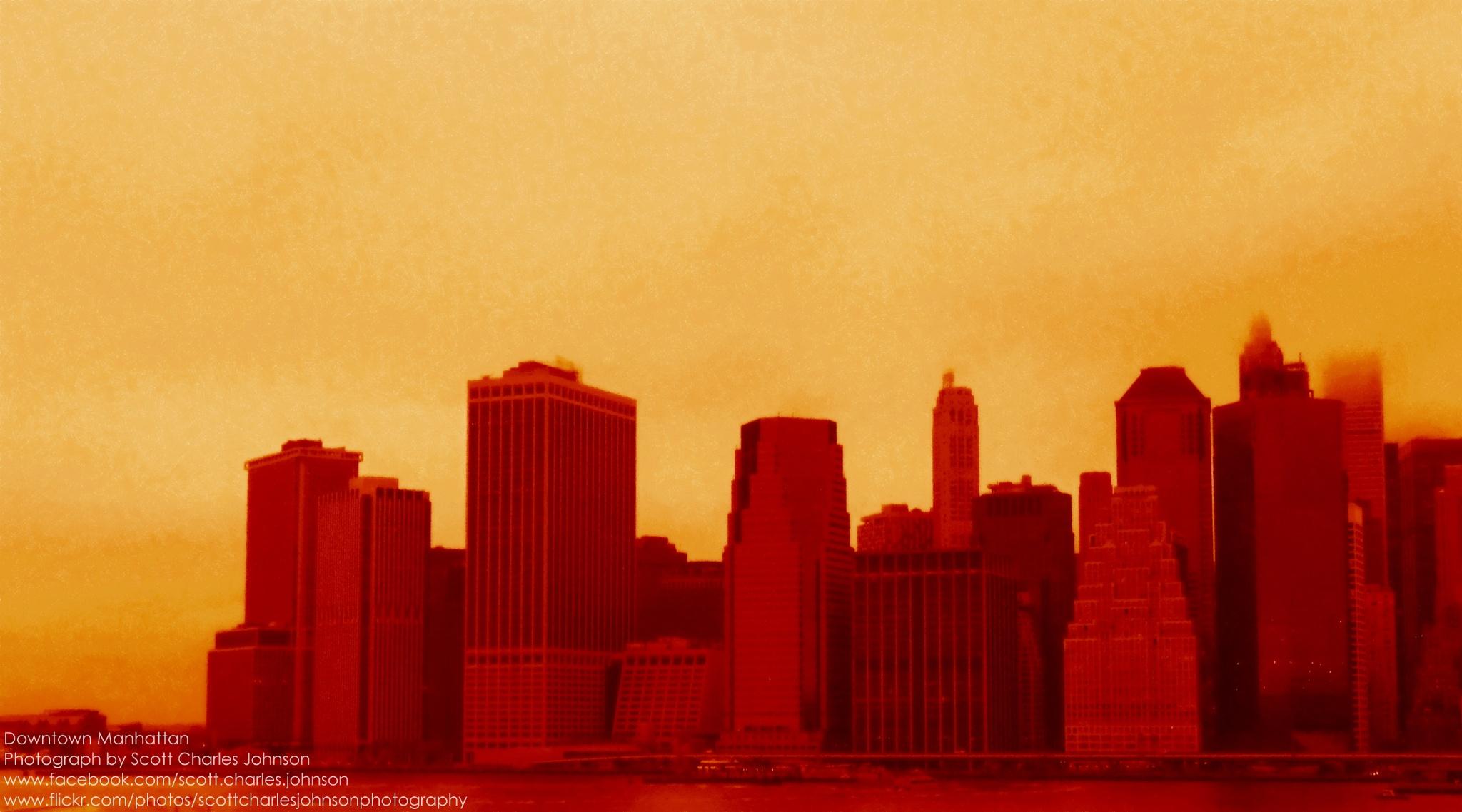 Downtown Manhattan from Brooklyn by Scott Charles Johnson