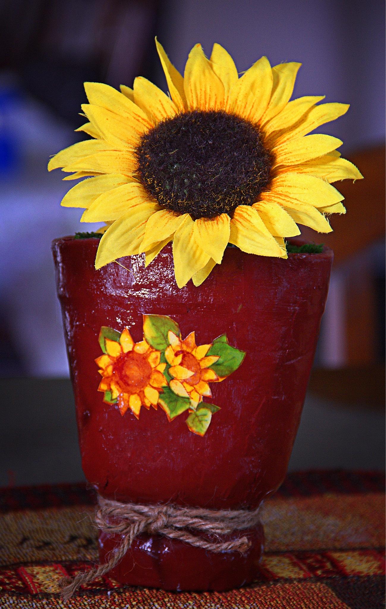 Recycled Styrofoam Planter by Hector L. Ortiz Sr.