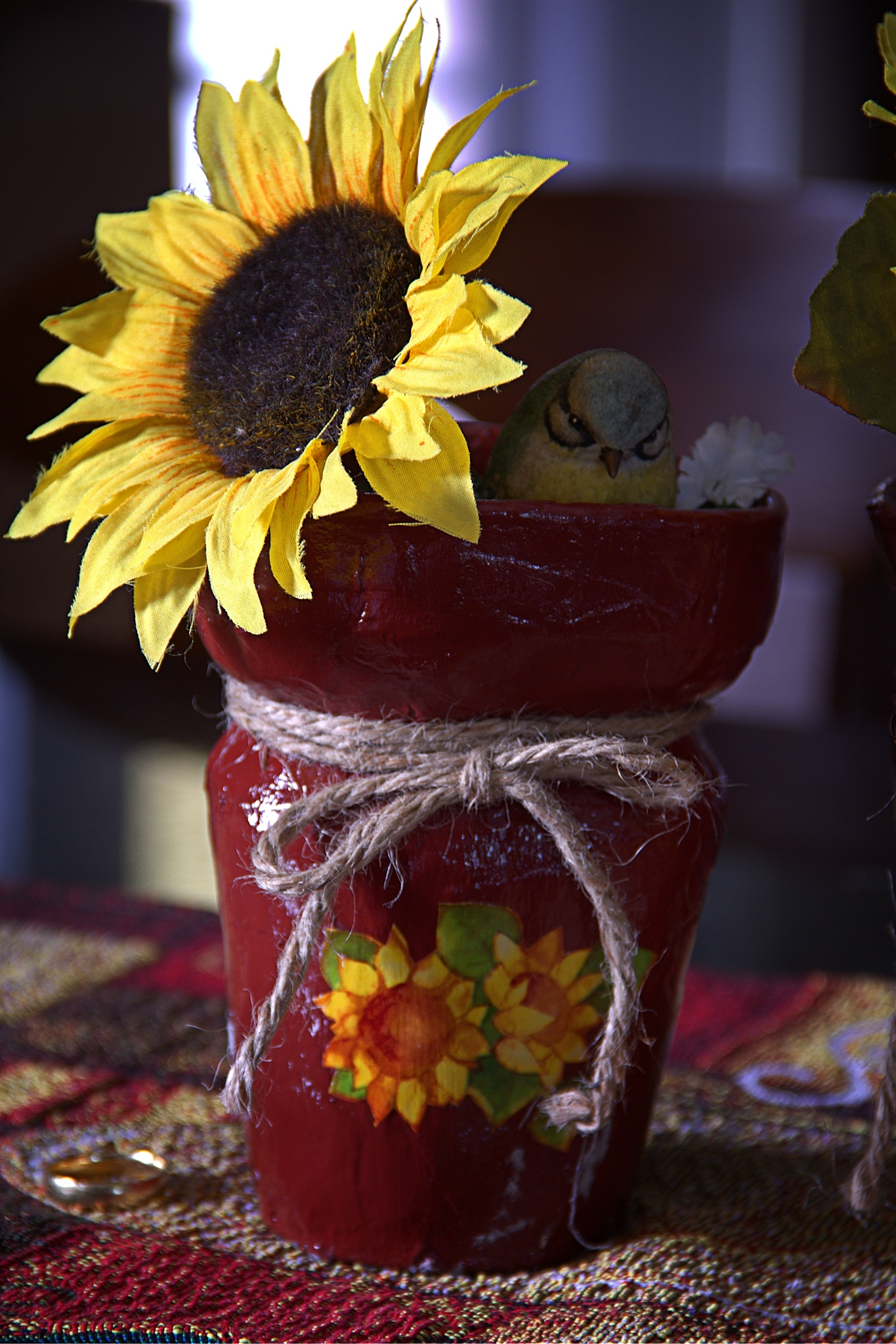 Styrofoam Cup Recycled Planter by Hector L. Ortiz Sr.