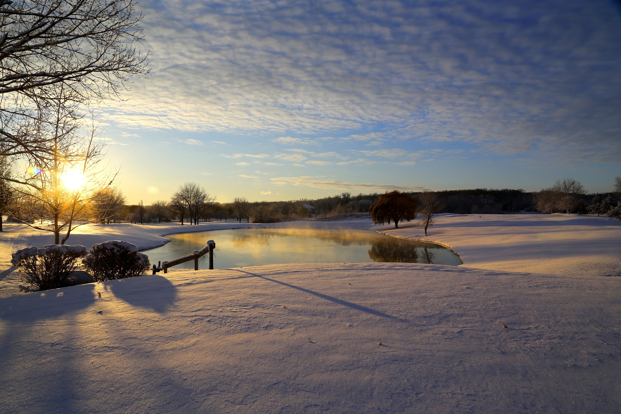 morning after the first snow of the season..... Saint Charles, IL by dirk.nel.12