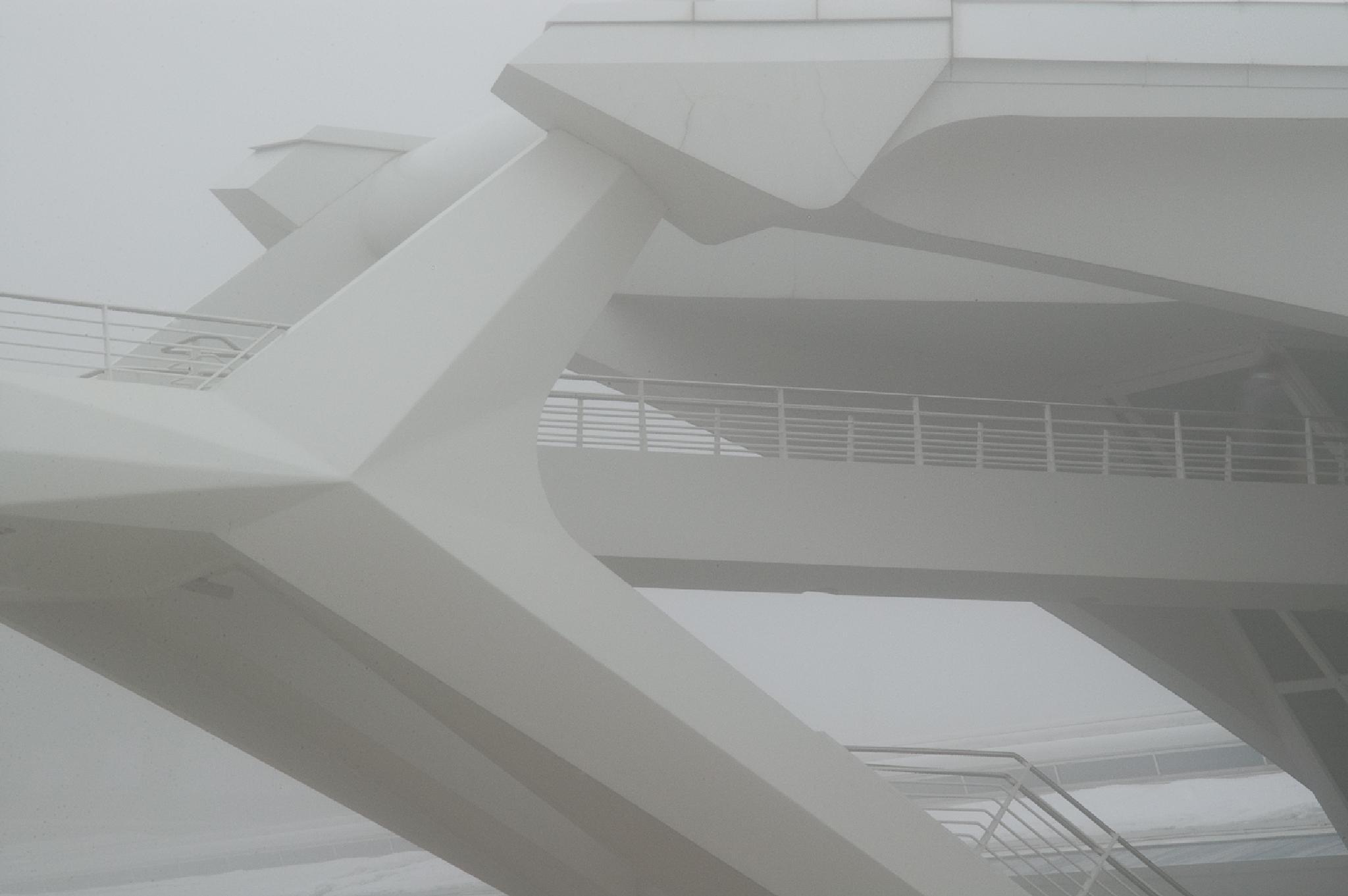 Milwaukee Art Museum, Fog by William Rieselbach