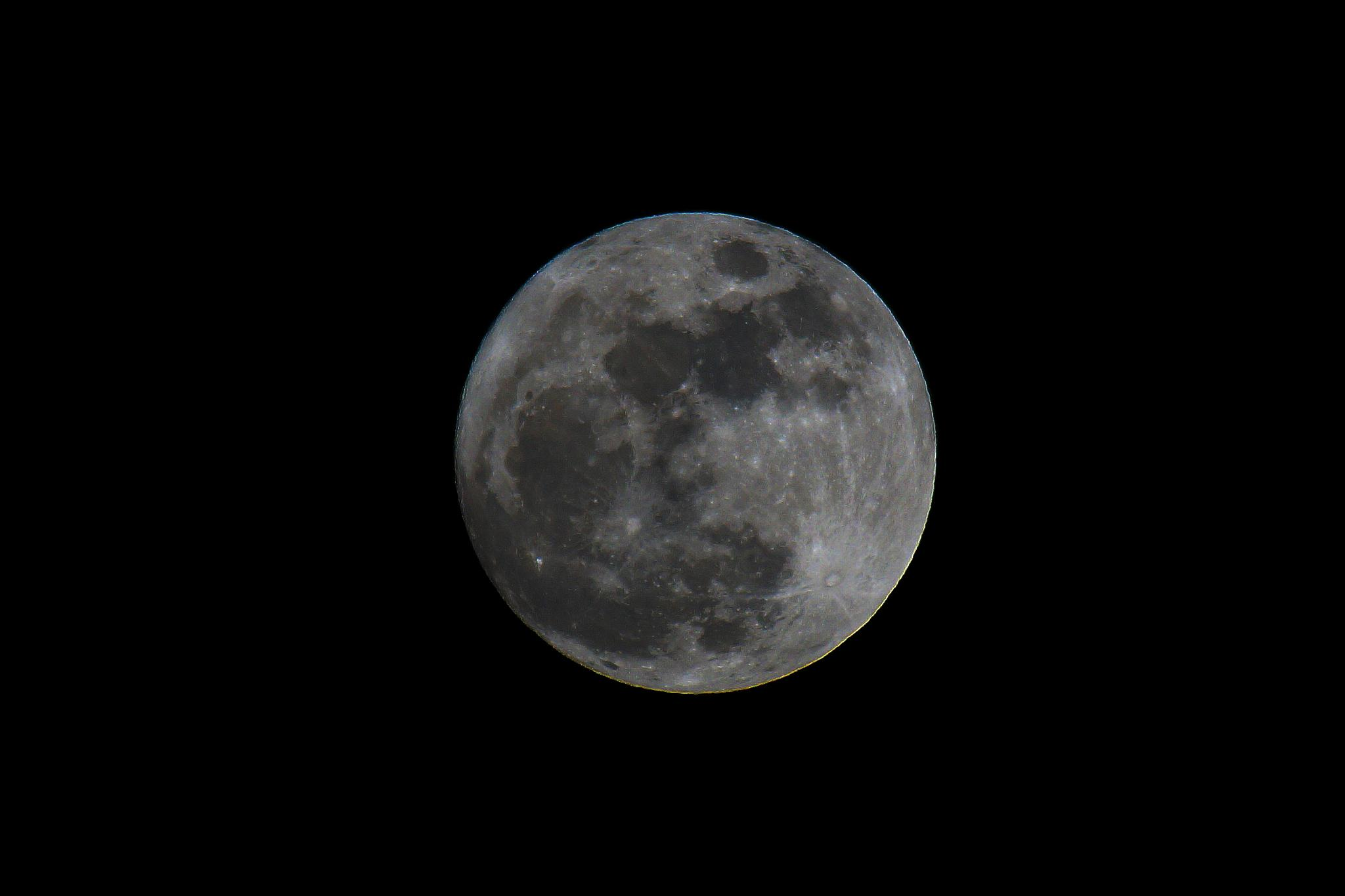 The Moon,feb3rd2015 by claypole55