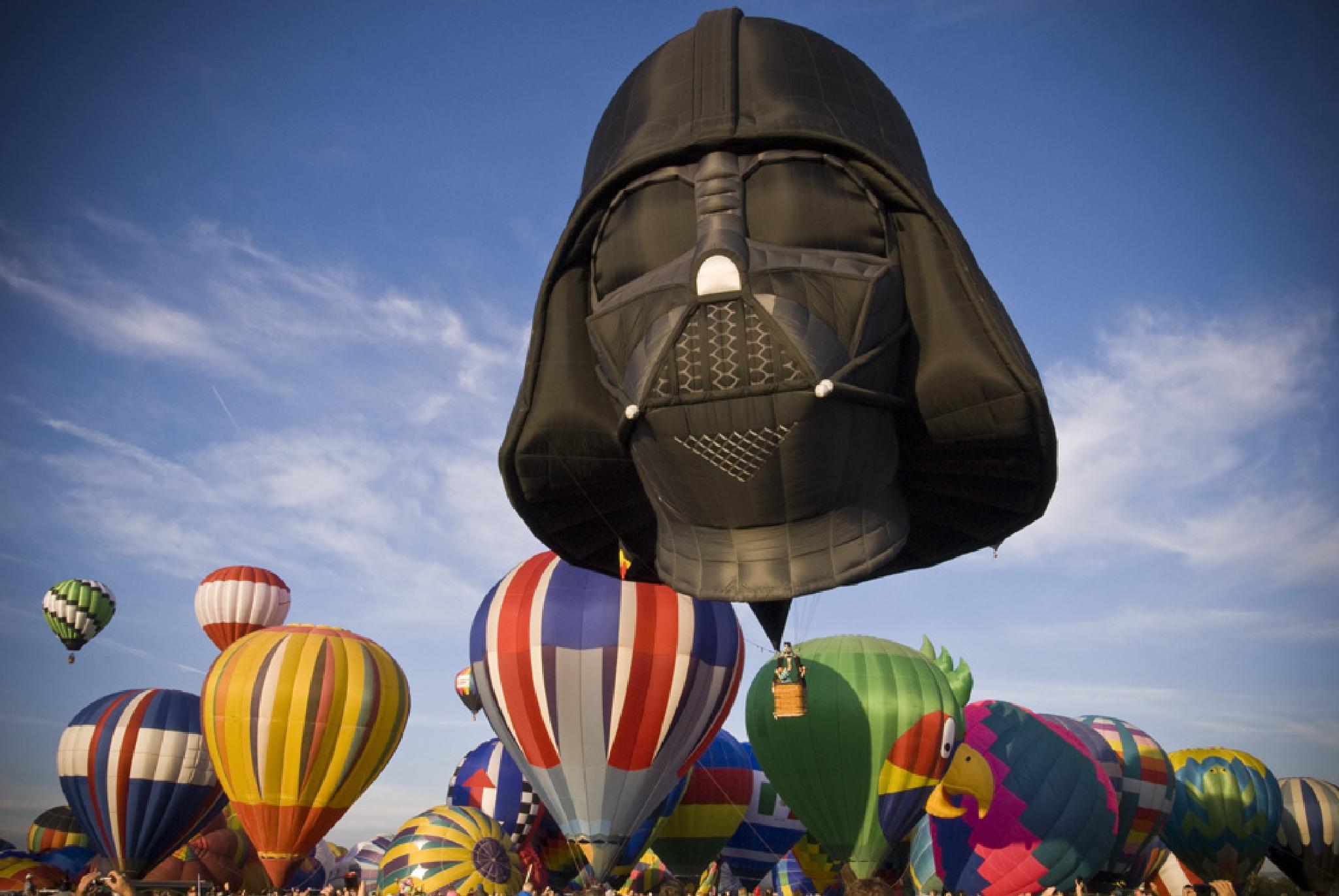Hot Air Balloon, Darth Vadar by Pazzophoto