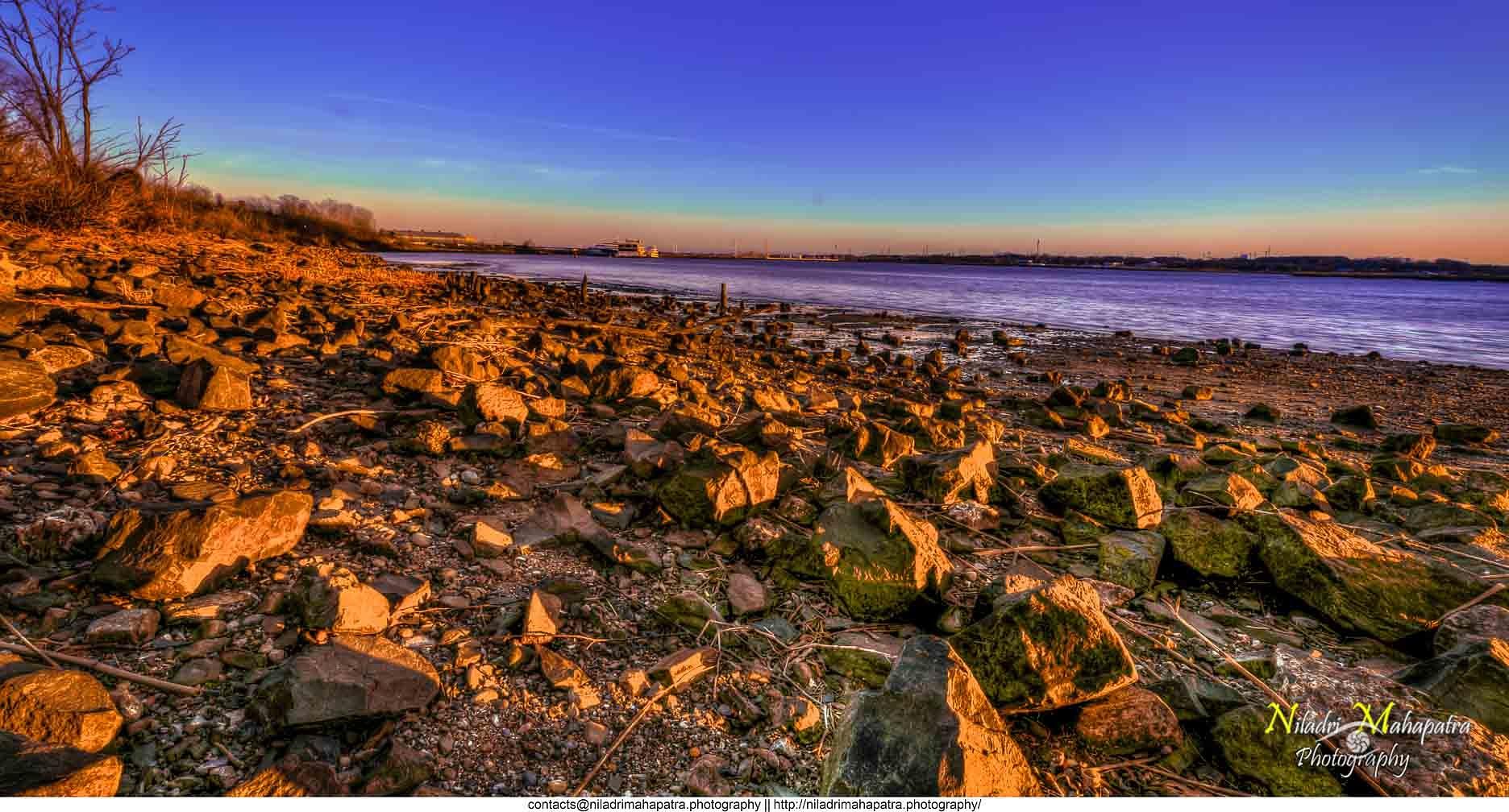 SunSet at Perth Amboy by Niladri Mahapatra