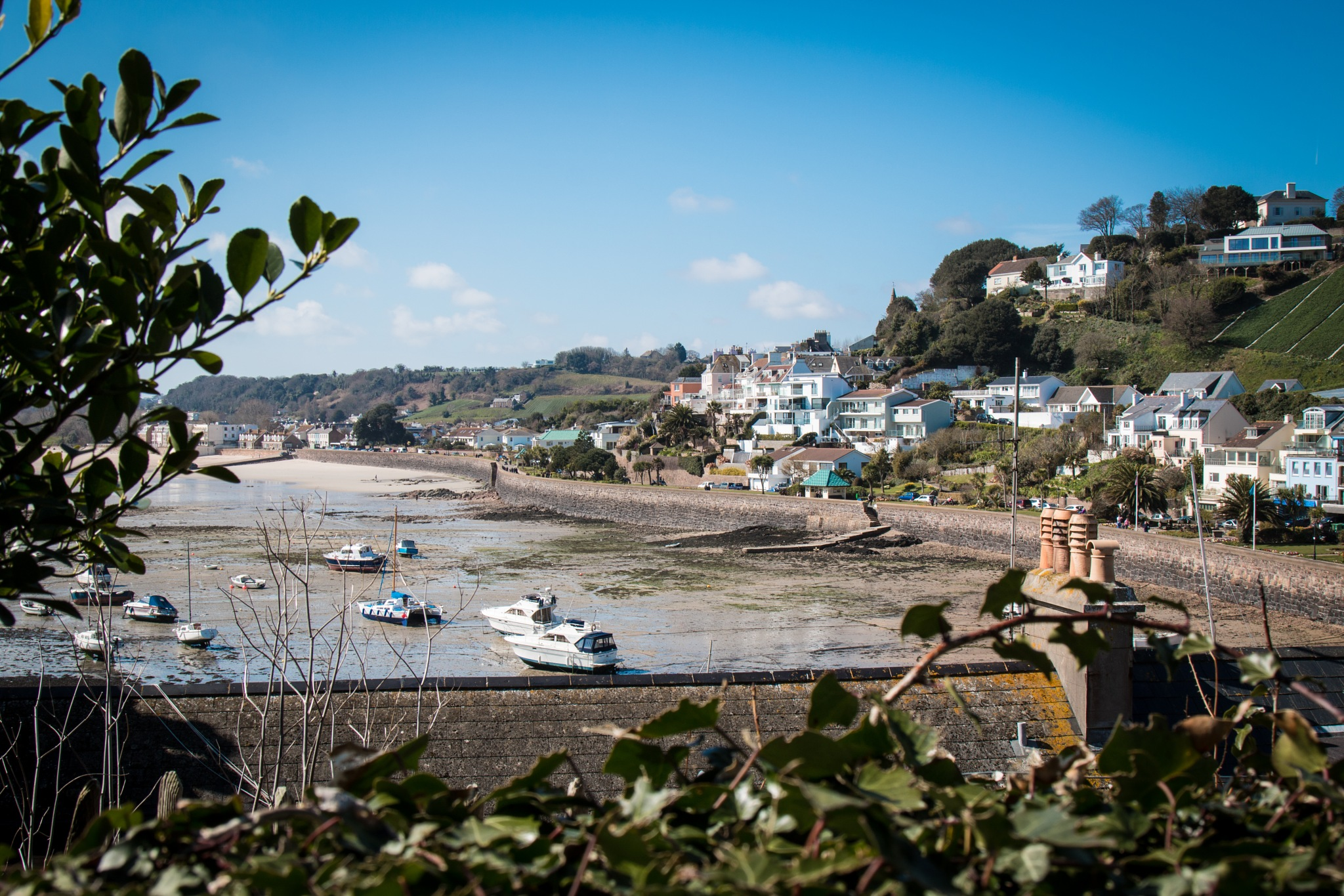 The bay at Gorey Castle by Allan Love