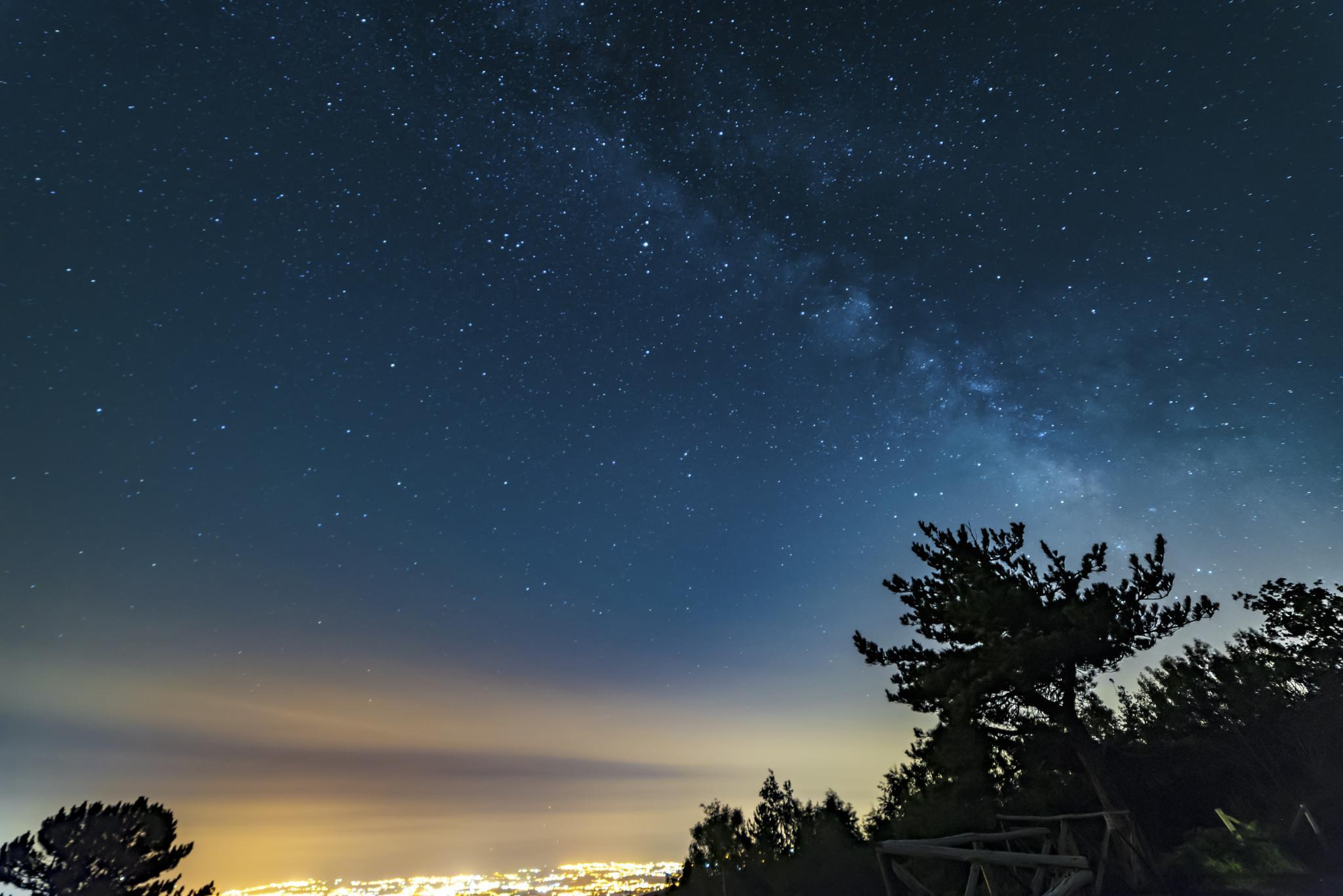 Milky Way over the Etna villages by Antonio Calvagno
