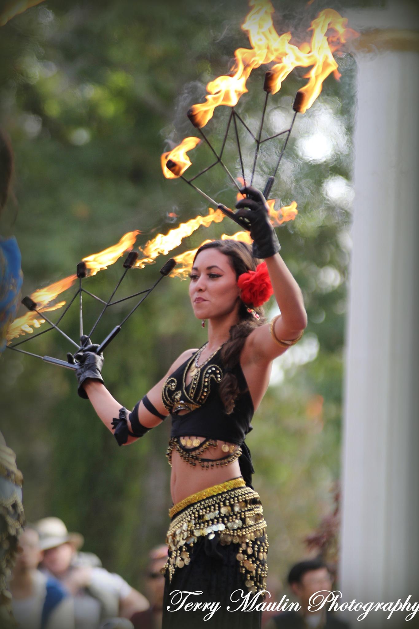 Fire dancer by TerryLeePhotography