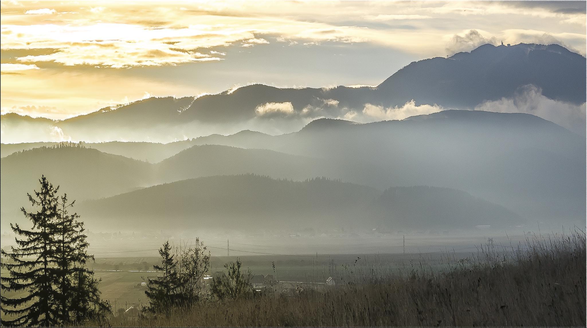 autumn sunrise by constantin.hurghea