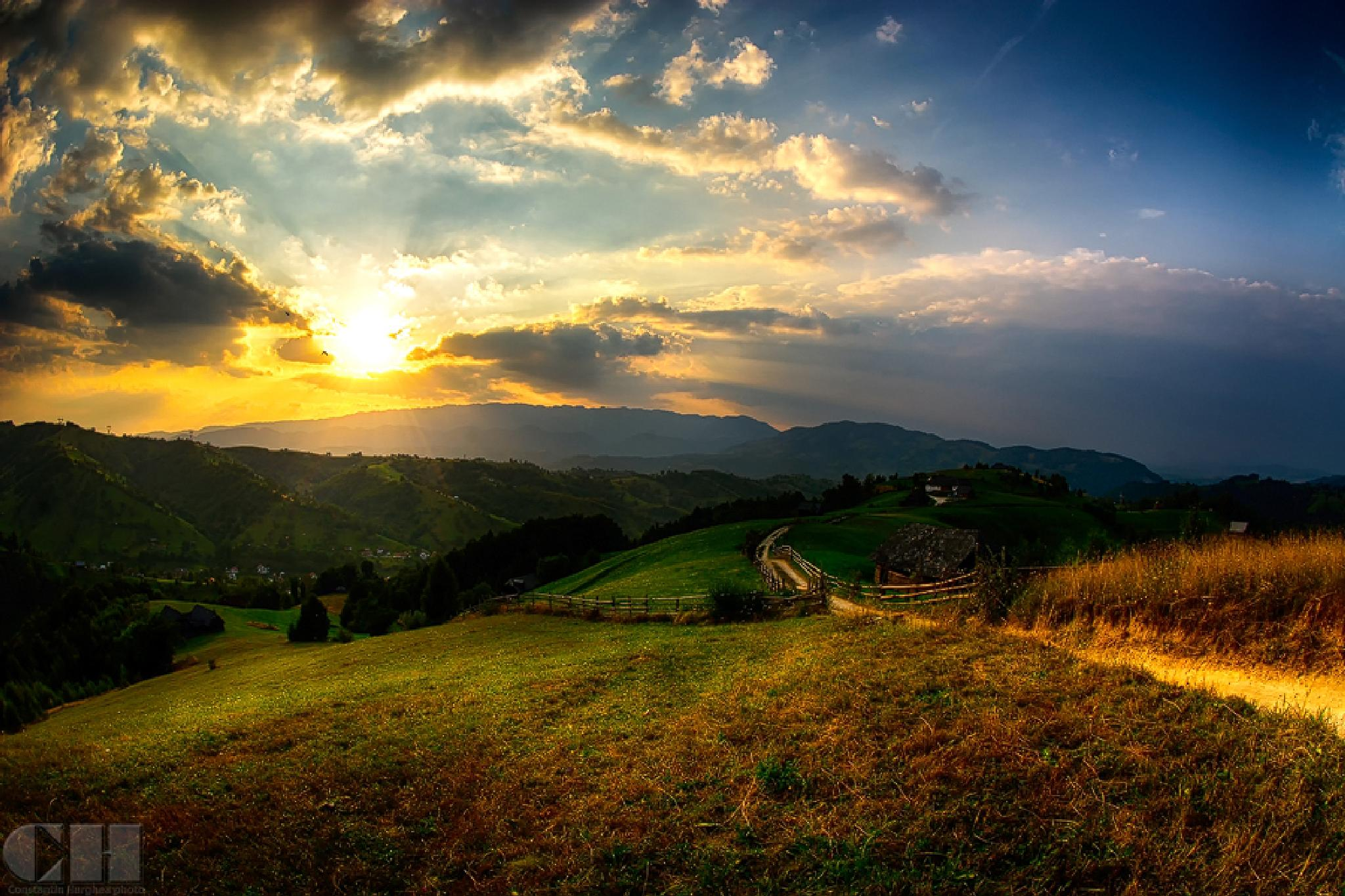 the story of a summer sunset by constantin.hurghea