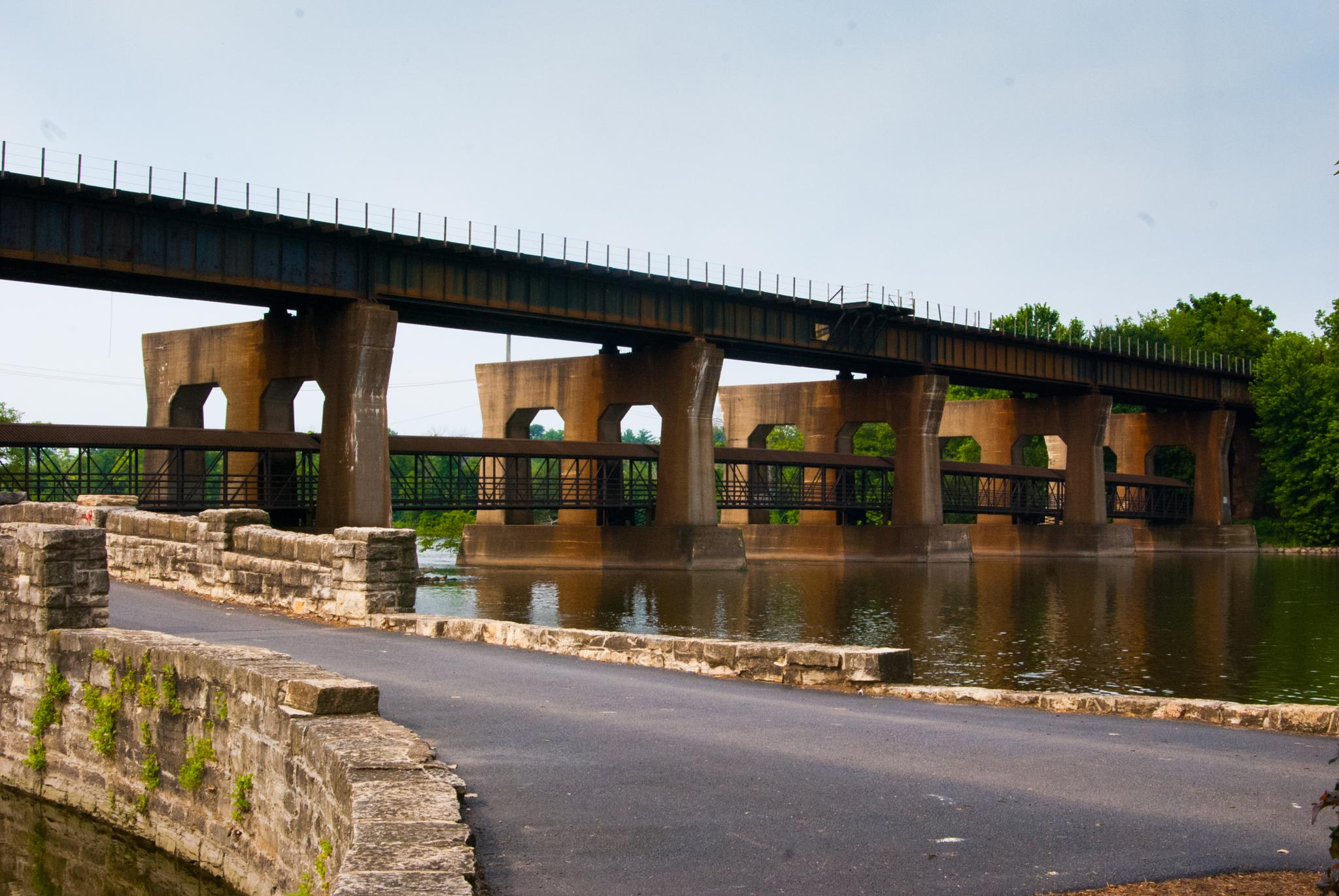 Bridge over Fox River by mgrphotography