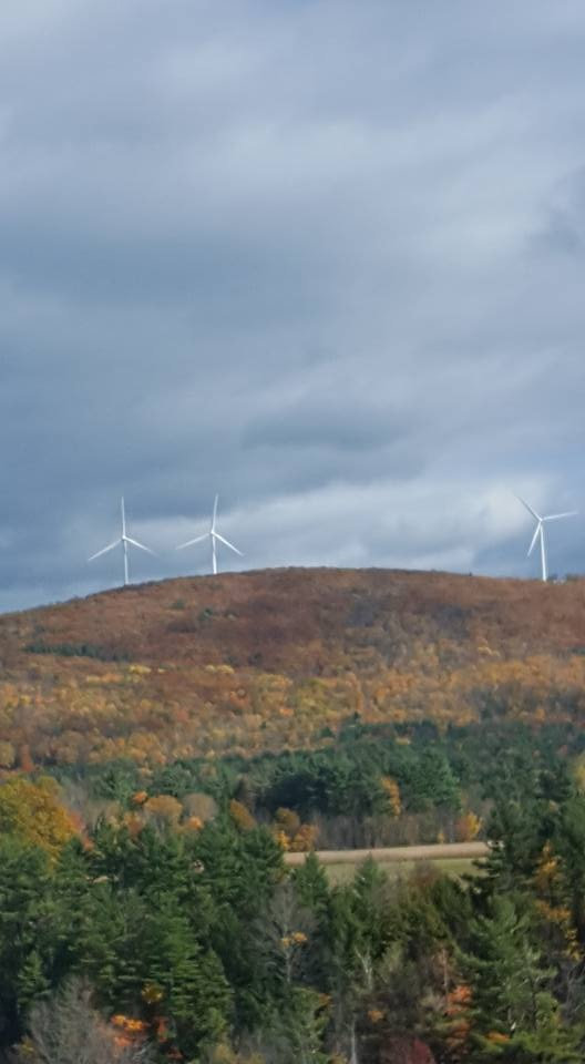 wind turbines in vermont mountains by Judy Barnes