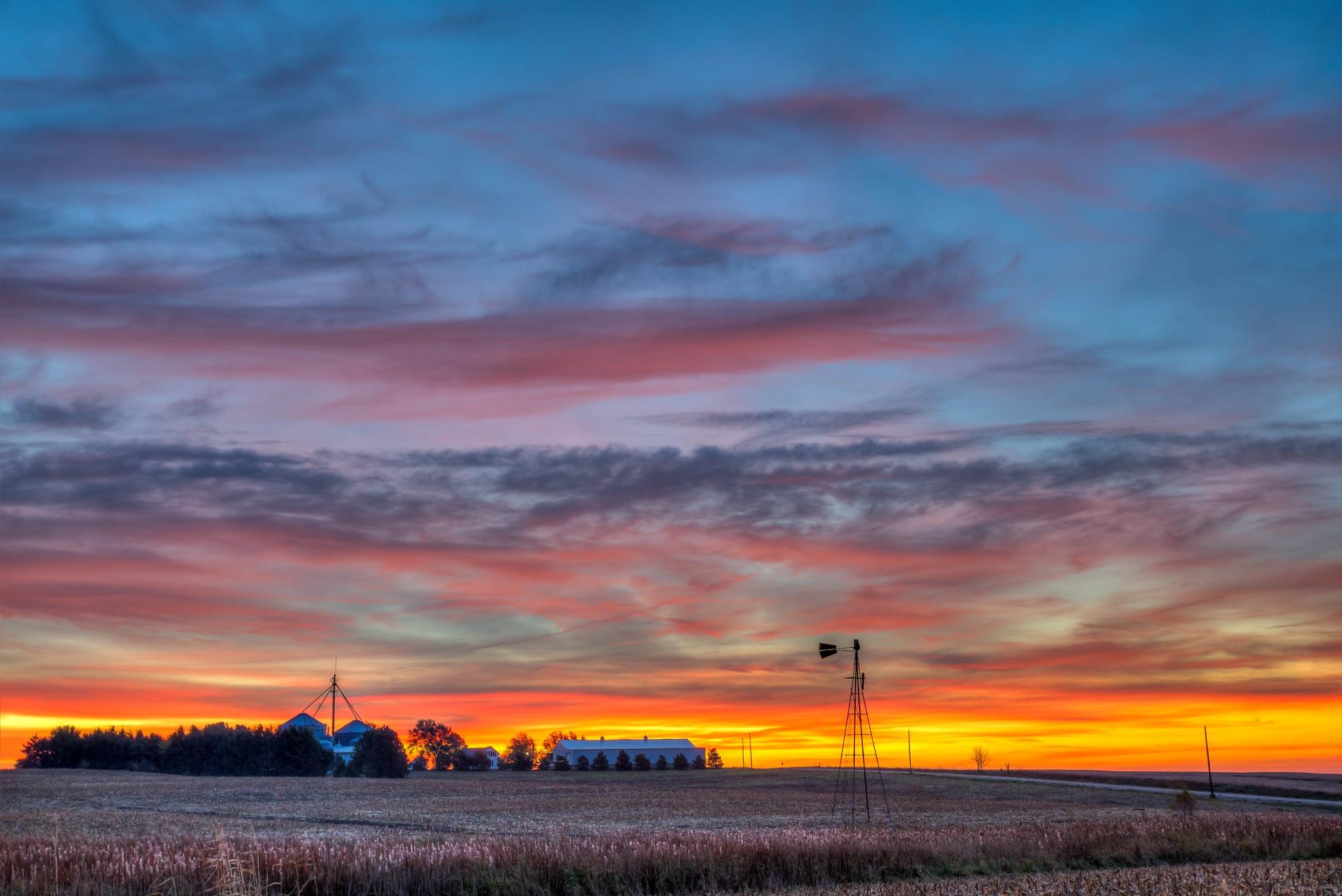 Rural sunrise by Jay Douglass