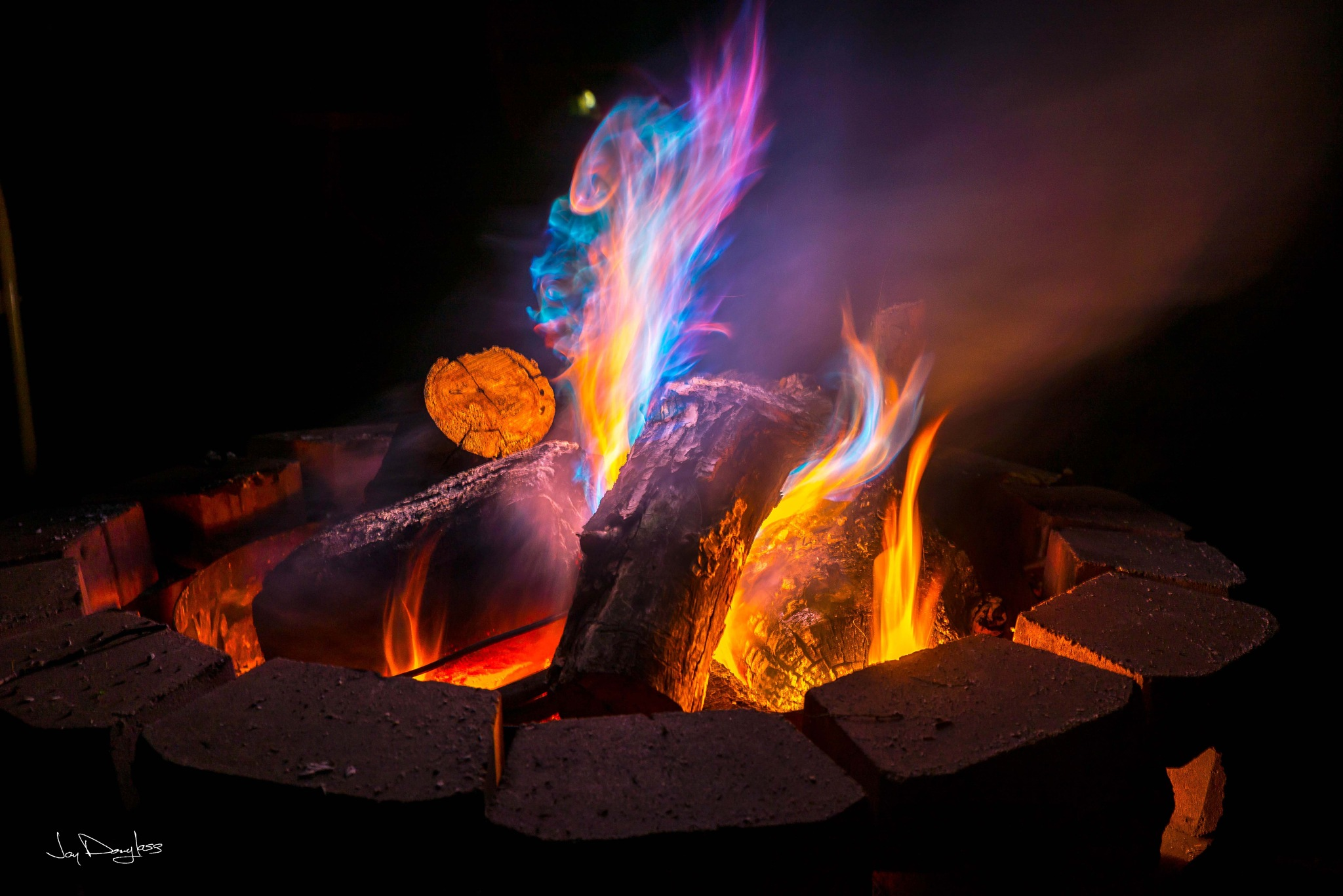 Colorful Campfire by Jay Douglass