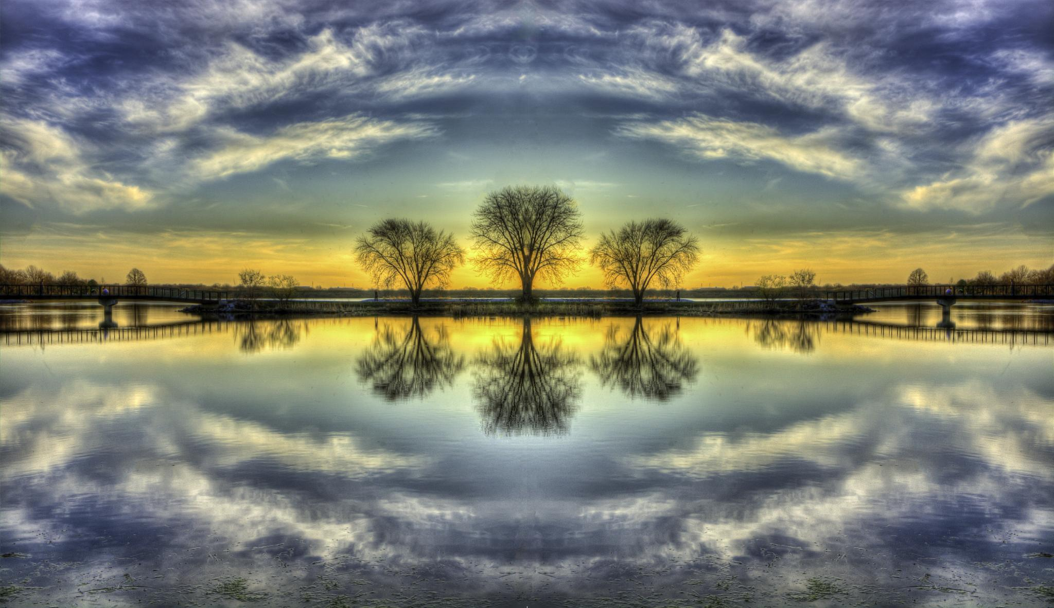 Horizontal & Vertical Reflection by Jay Douglass