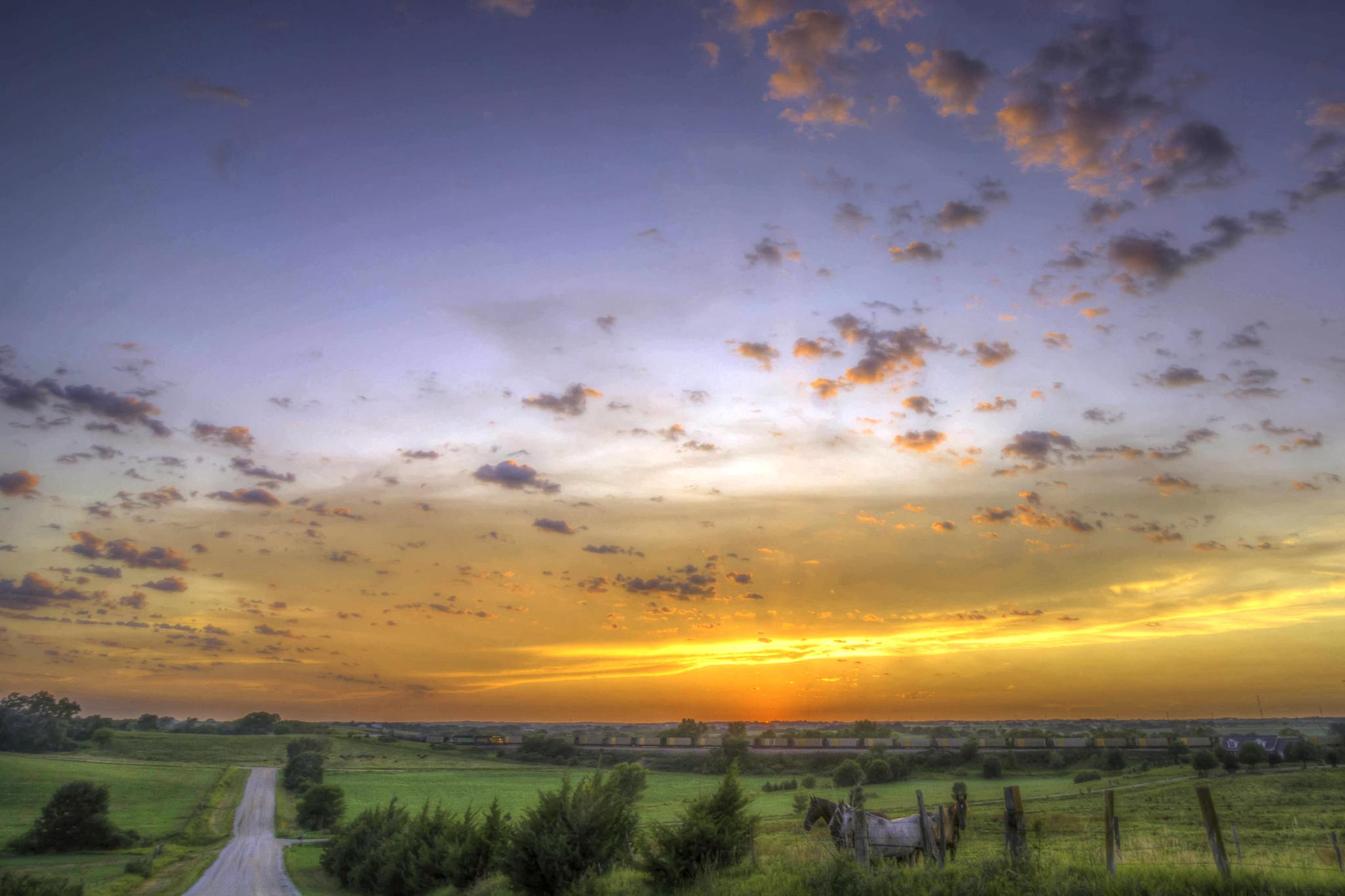 Country Sunset HDR by Jay Douglass