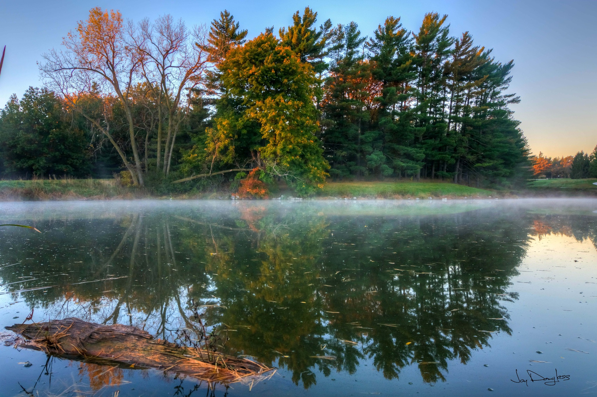 Fall reflection by Jay Douglass