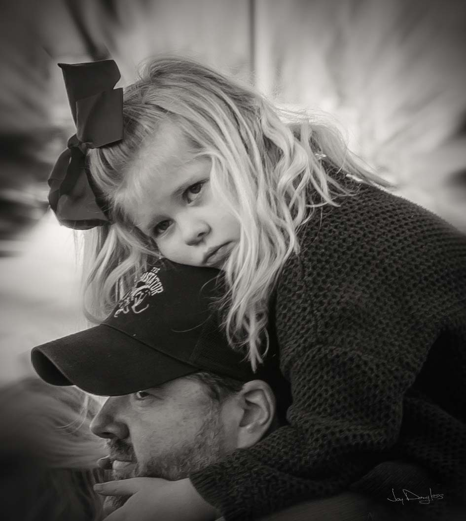 On Daddy's Shoulders by Jay Douglass