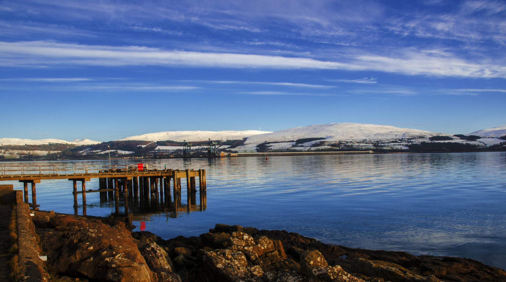 Mainland with Snow by acawley1