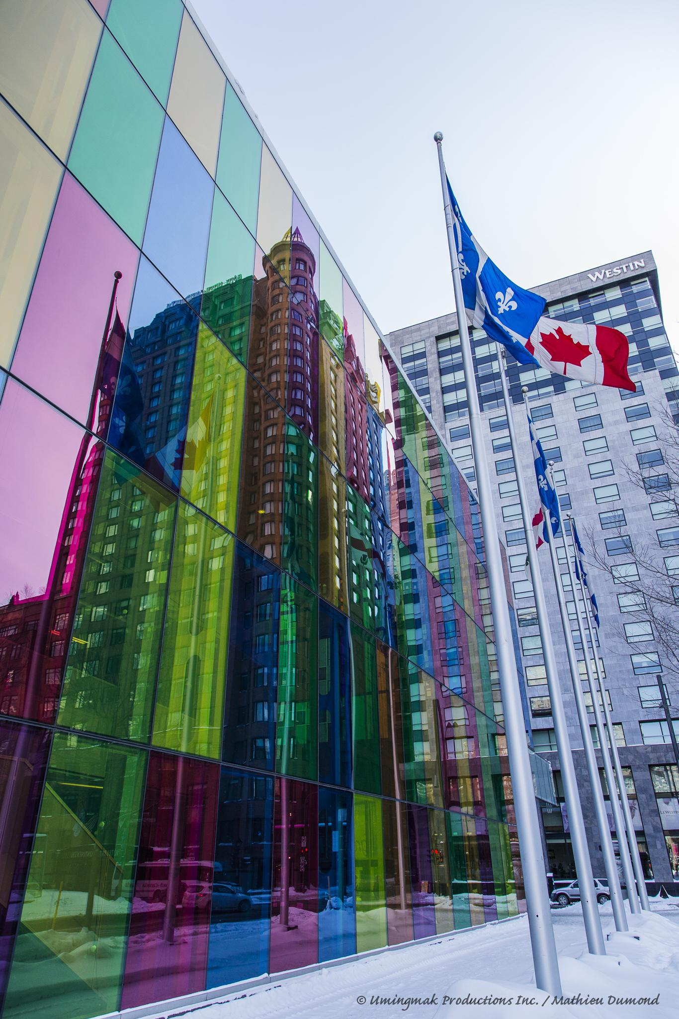 Colourful reflection Montreal by Mathieu Dumond
