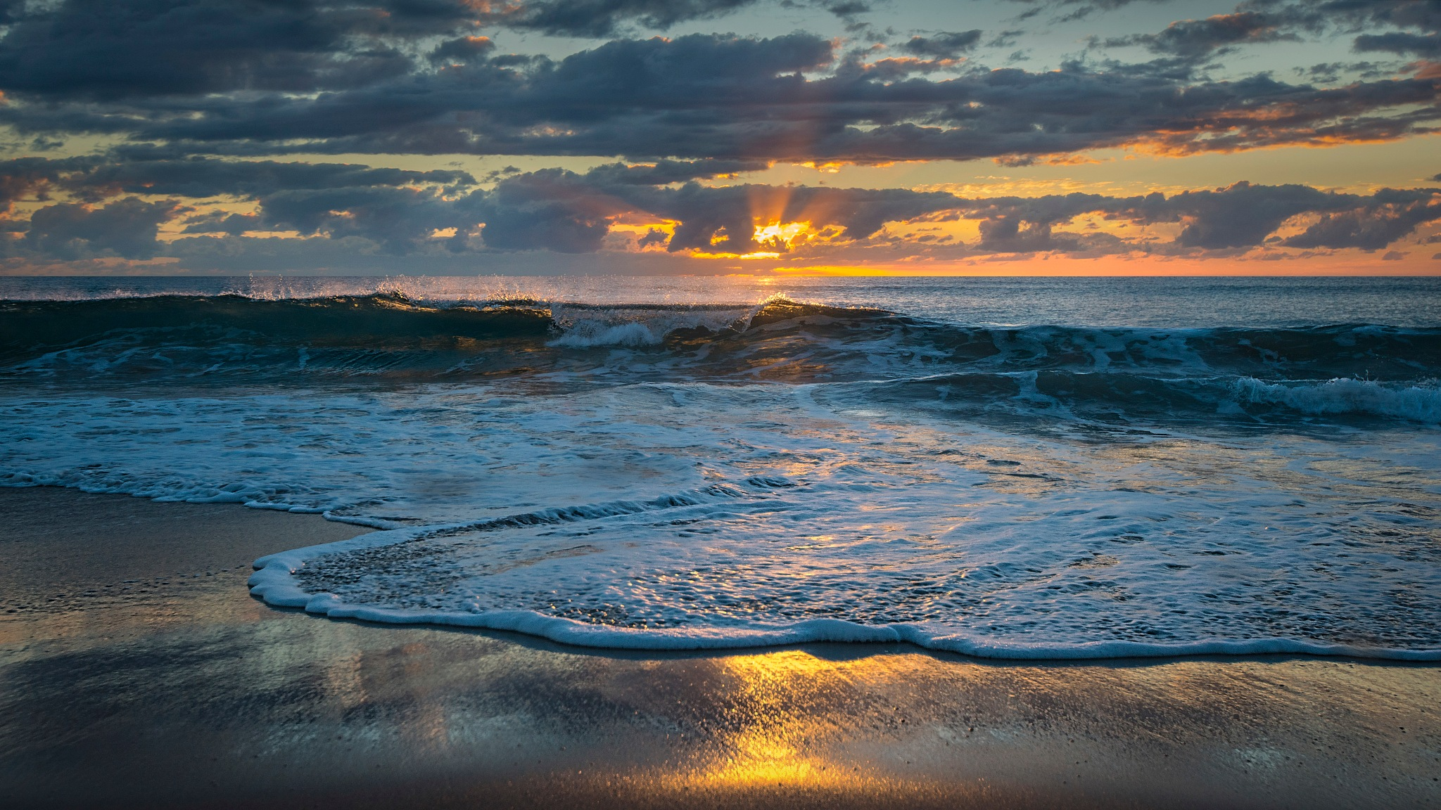 Breaking wave at sunrise. (best viewed large) by EmanuelPapamanolis