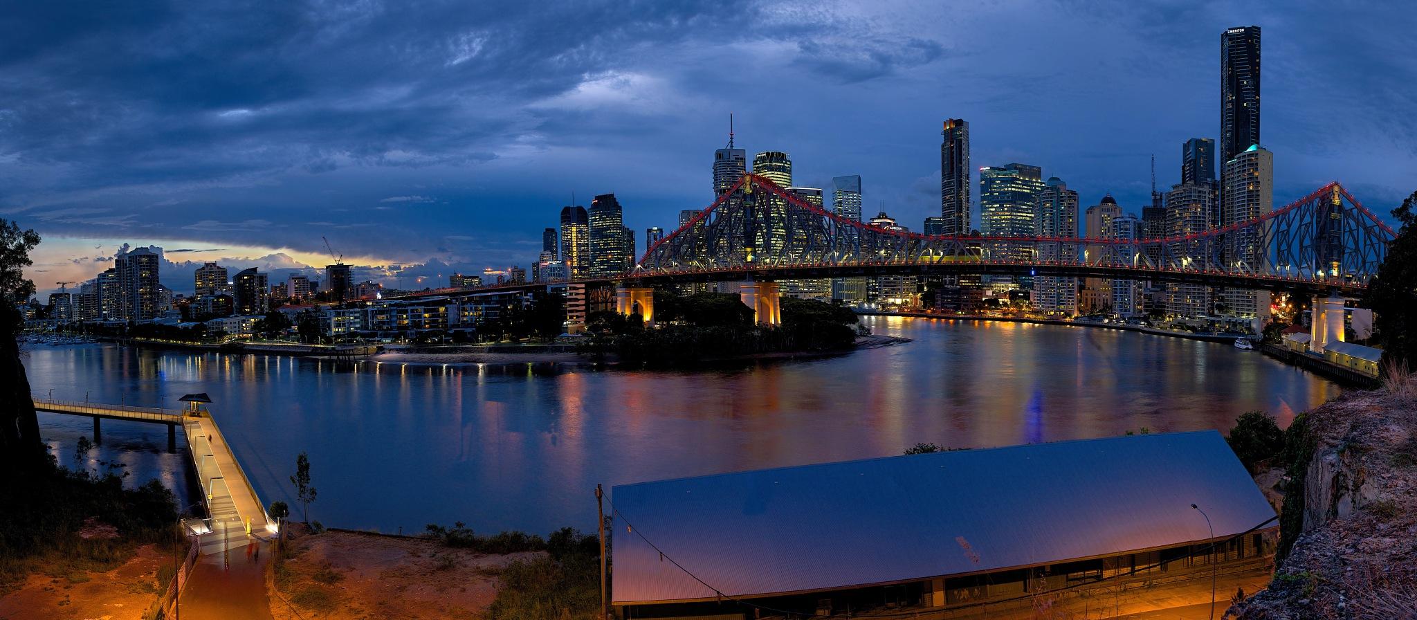 Brisbane Panorama (best viewed large) by EmanuelPapamanolis