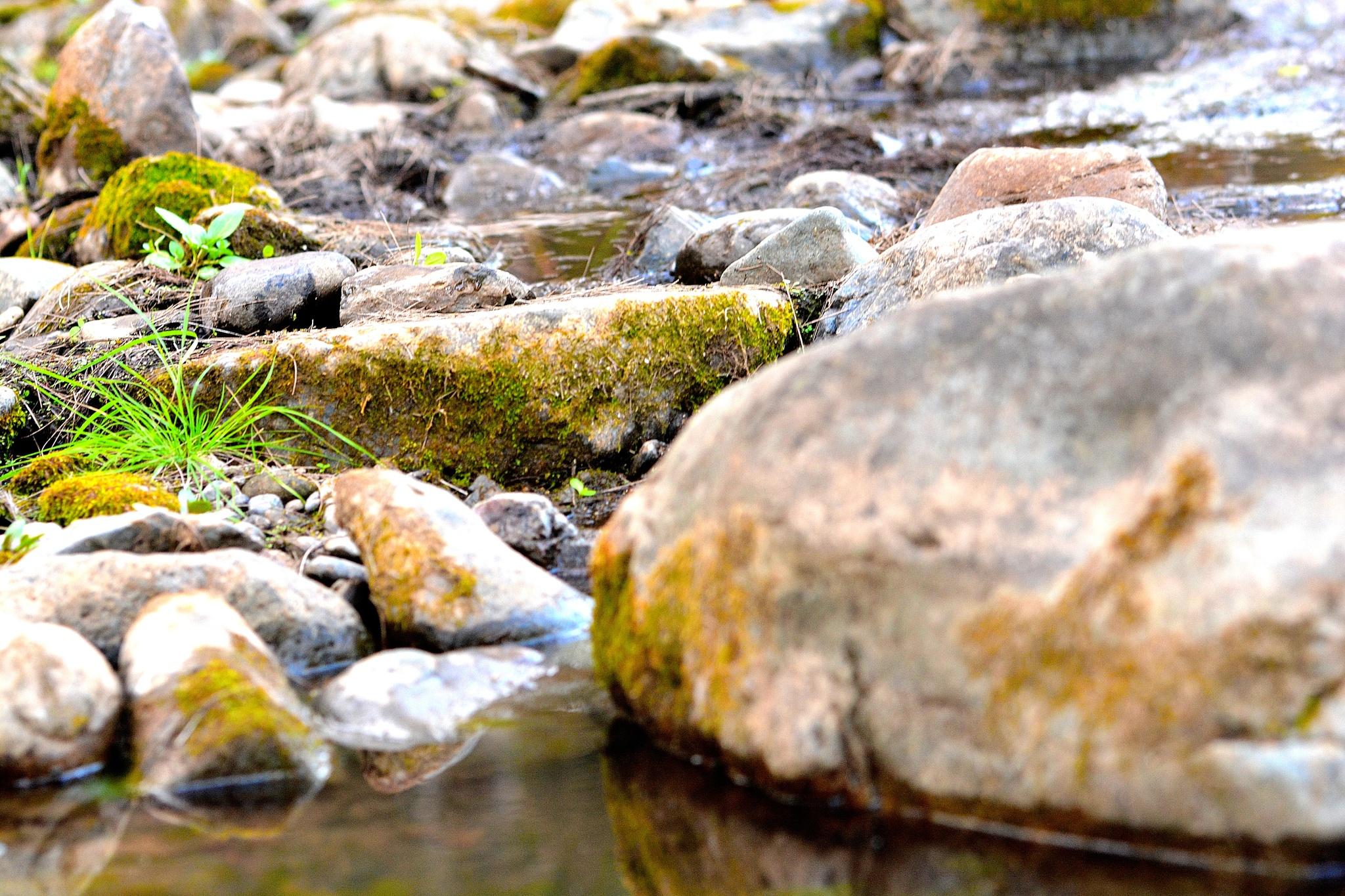 Closeup of a very rocky river by valli.hemp
