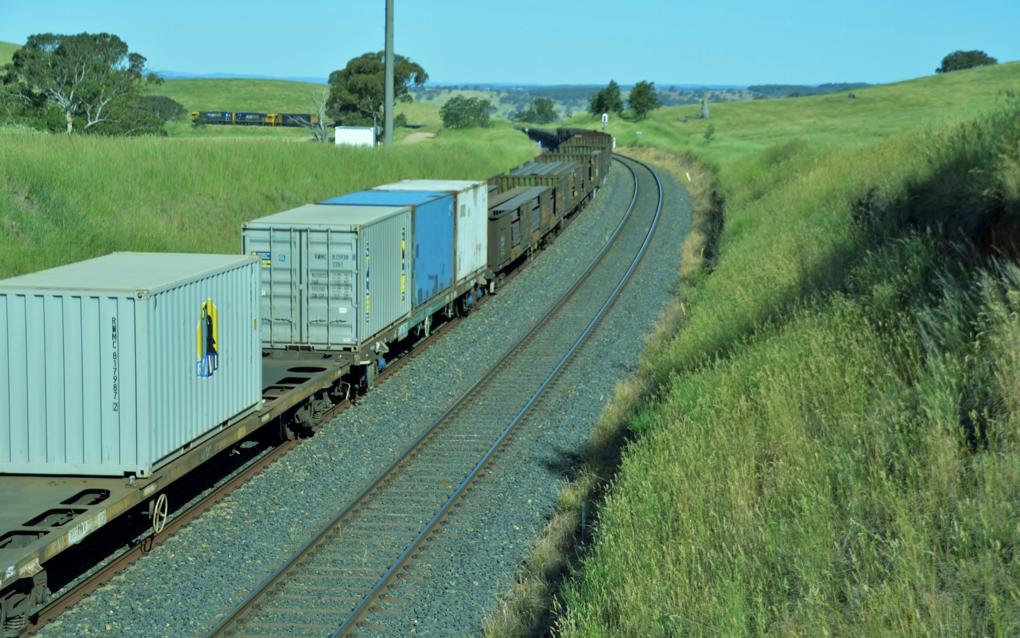 One of the many long freight trains that run through our rural region by valli.hemp