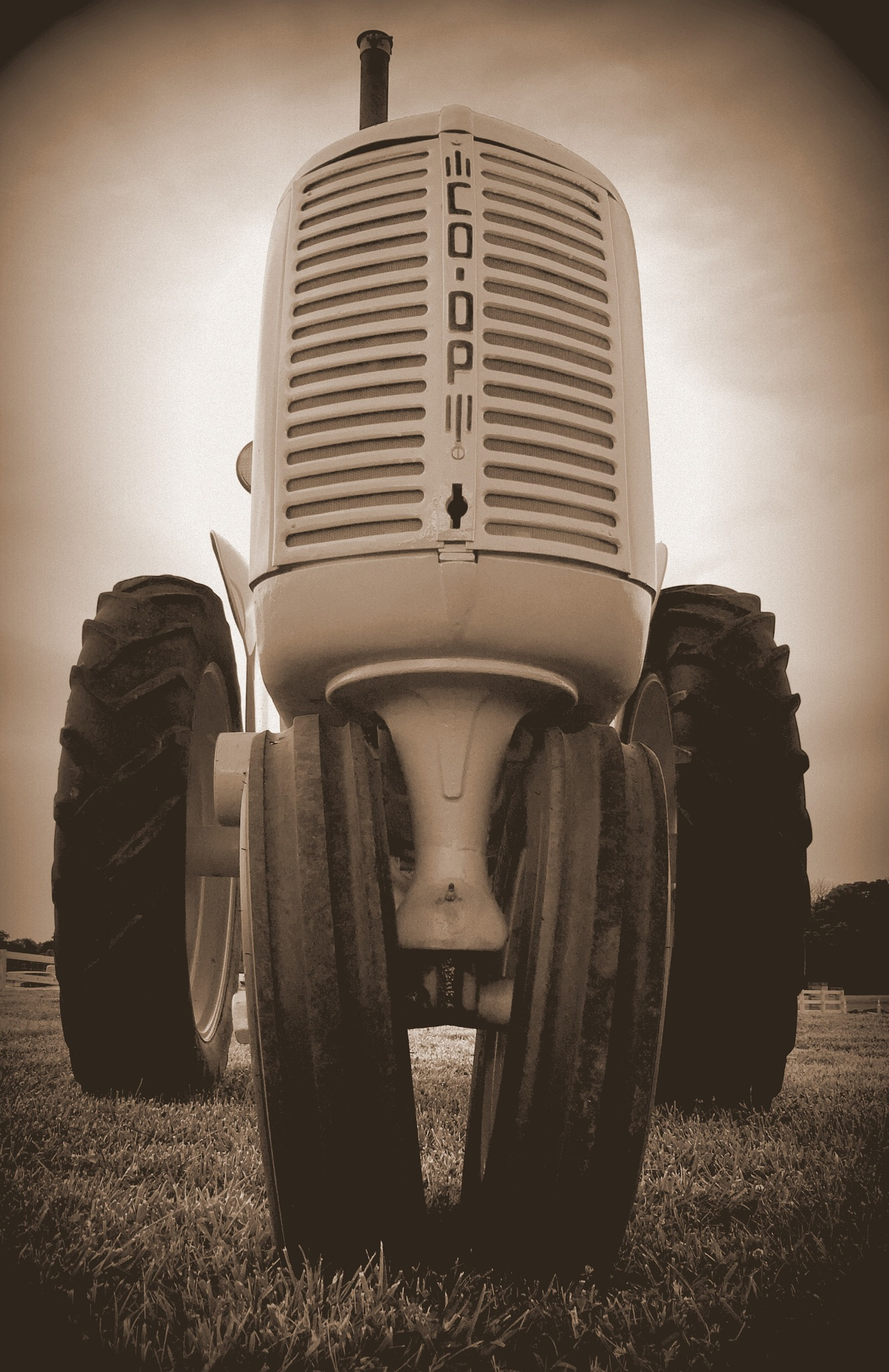 Tractor in Sepia by becky.c.jones.3