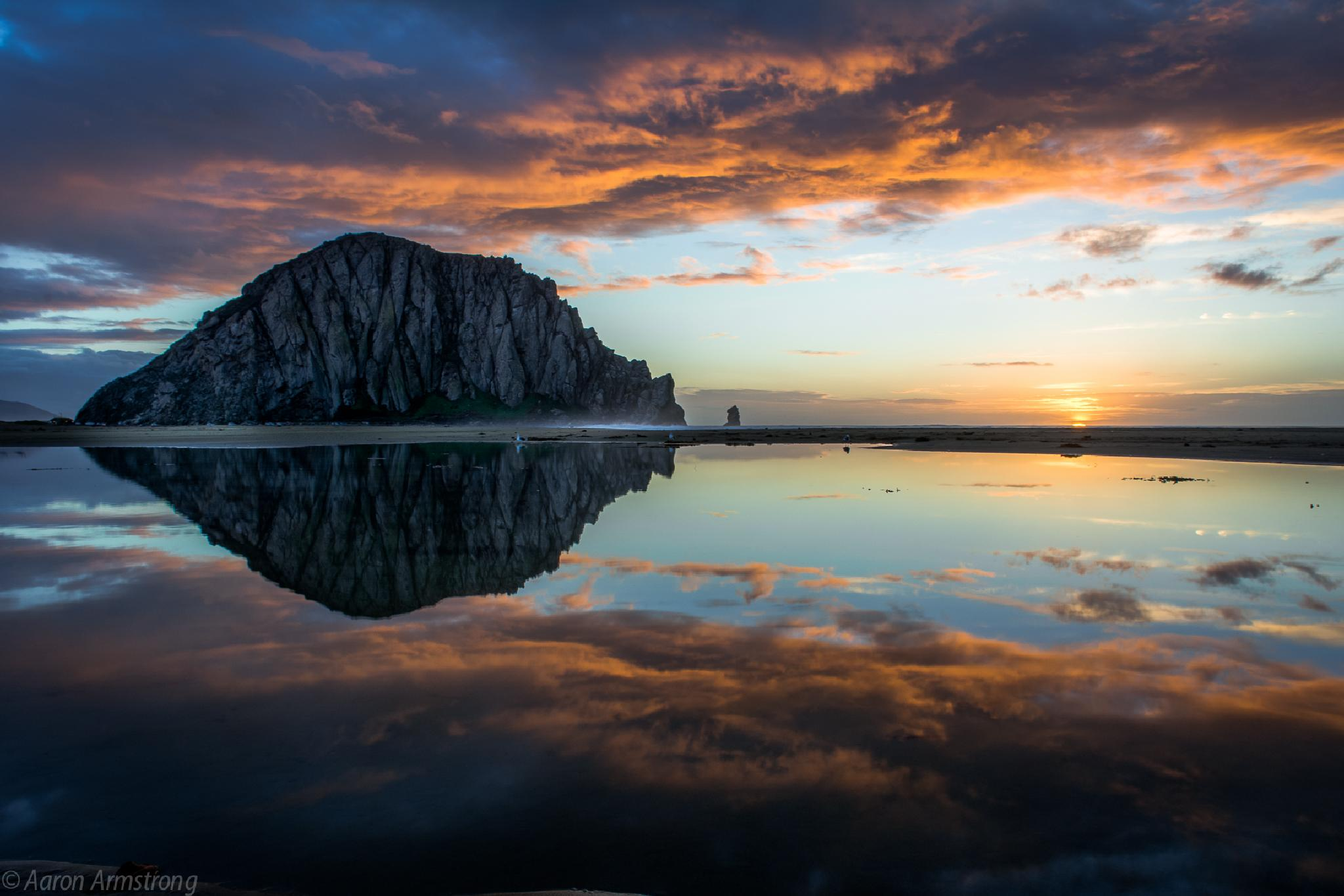 Another sunset reflection at Morro Rock by aaron.armstrong.336