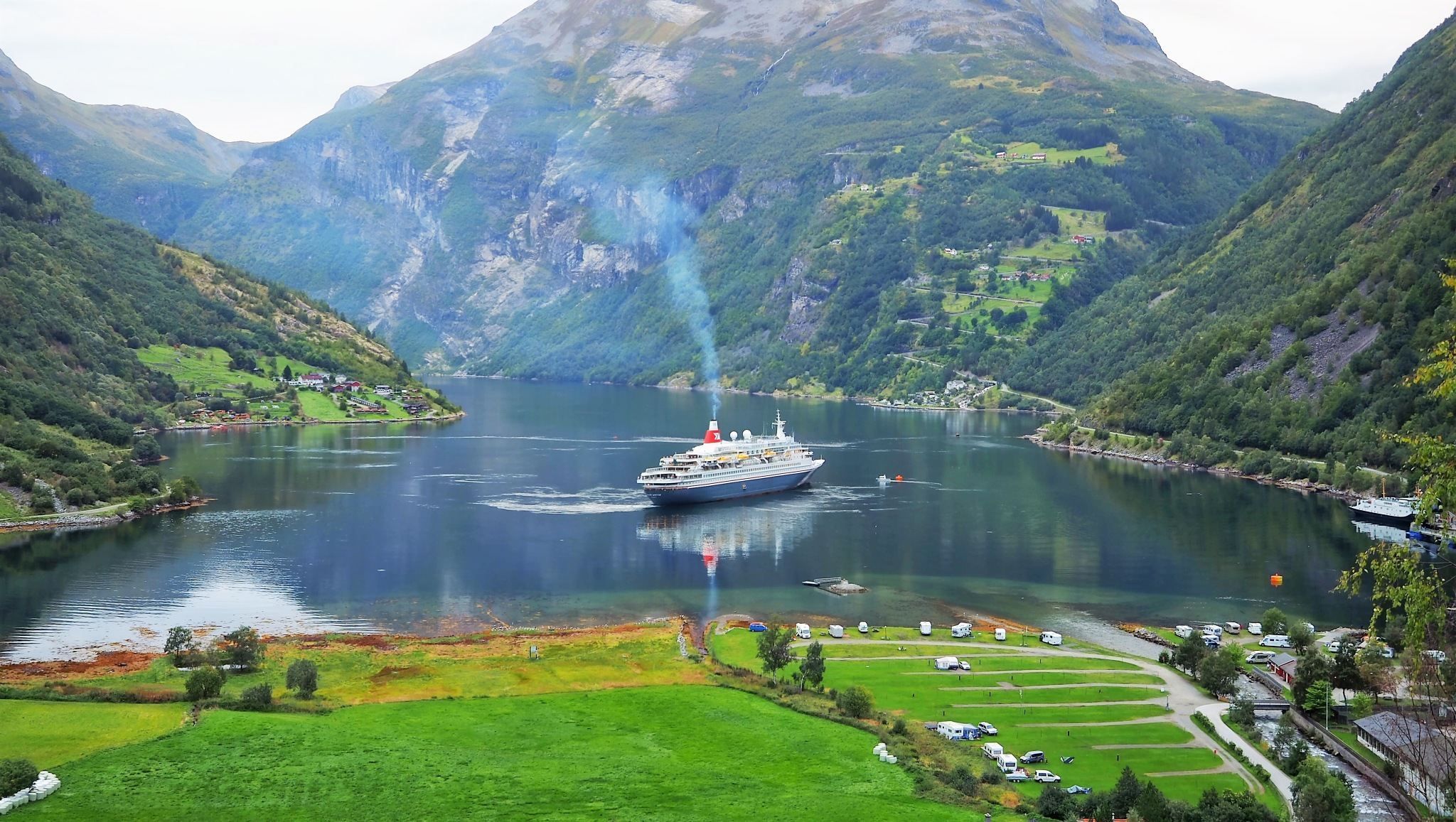 The Fjord at Geiranger Norway by william.l.bosley