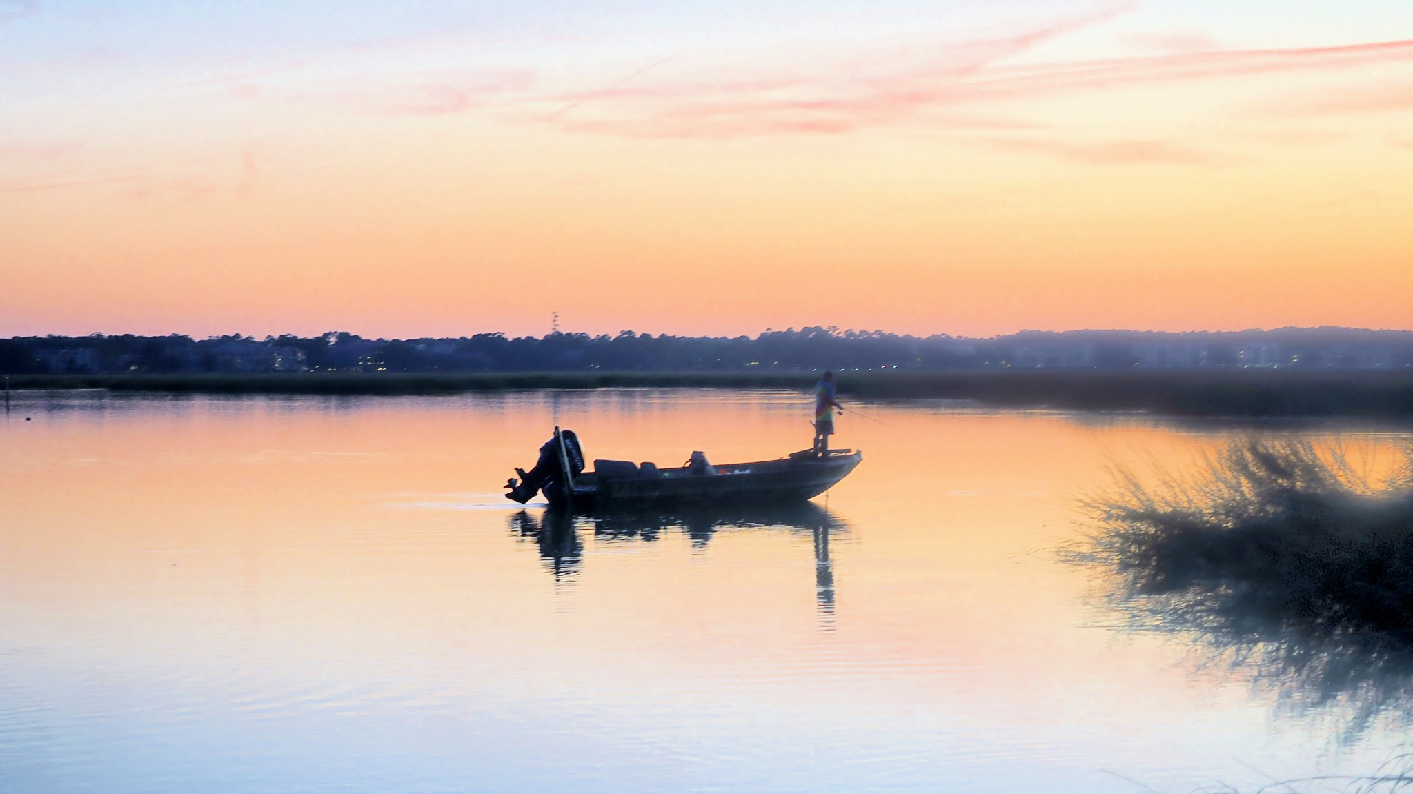 Fishing at Sunset by william.l.bosley