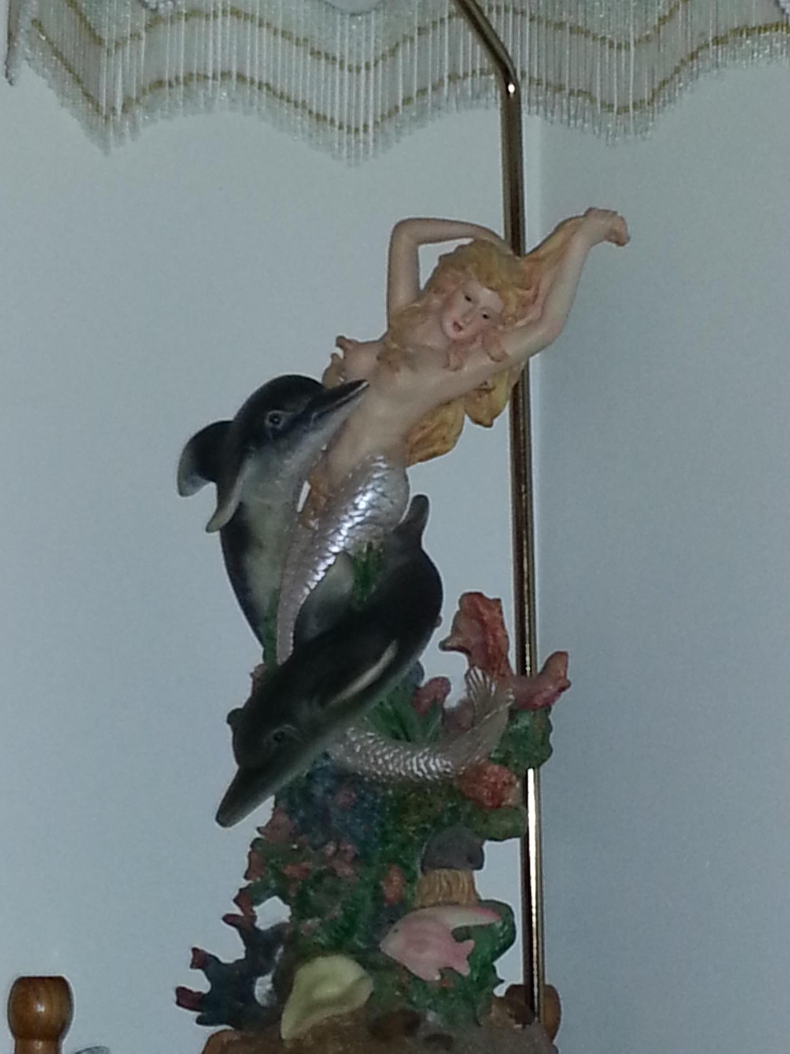tacky mermaid lamp by pamela.kanarr