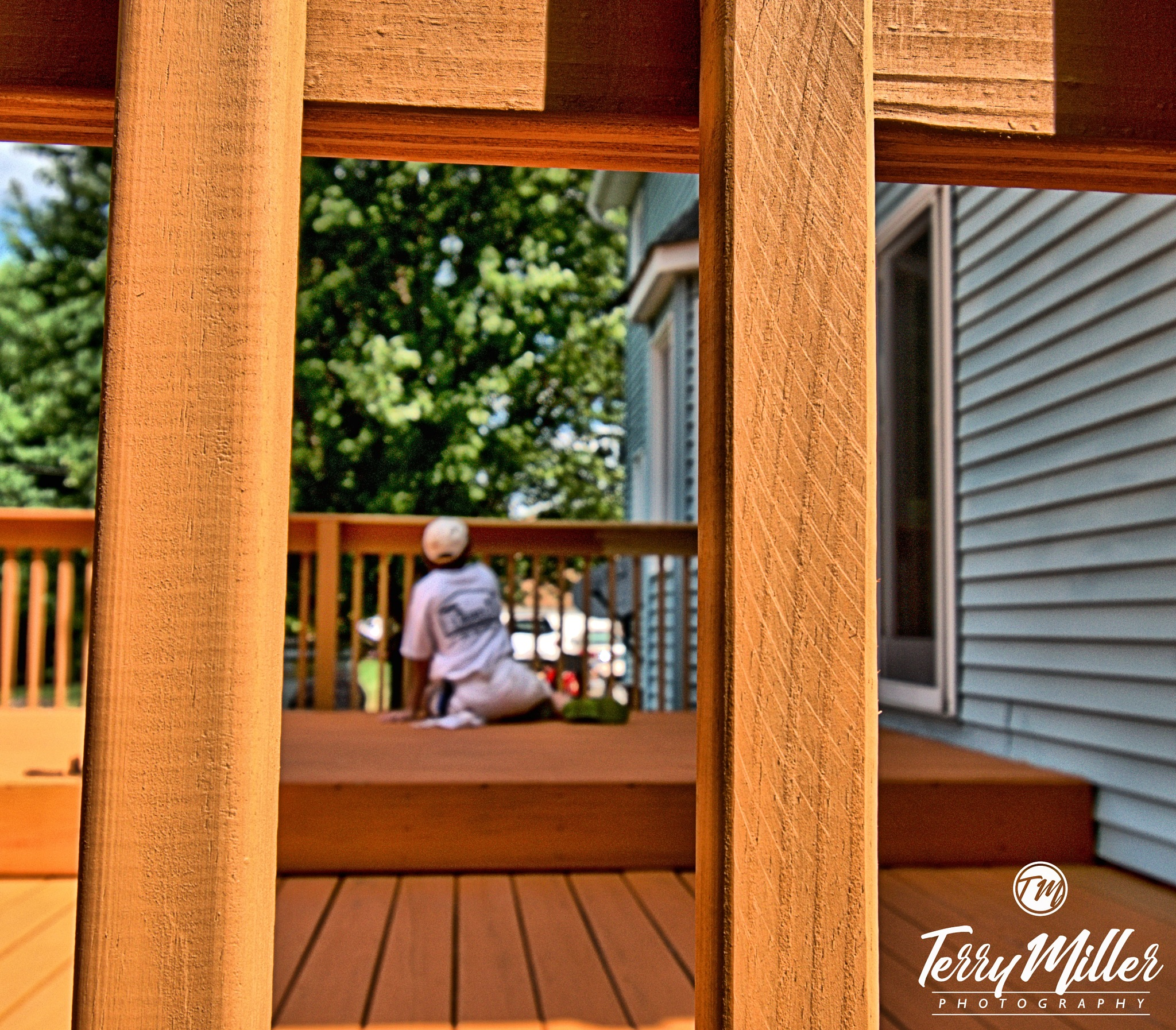 Staining the deck. by Tegrey