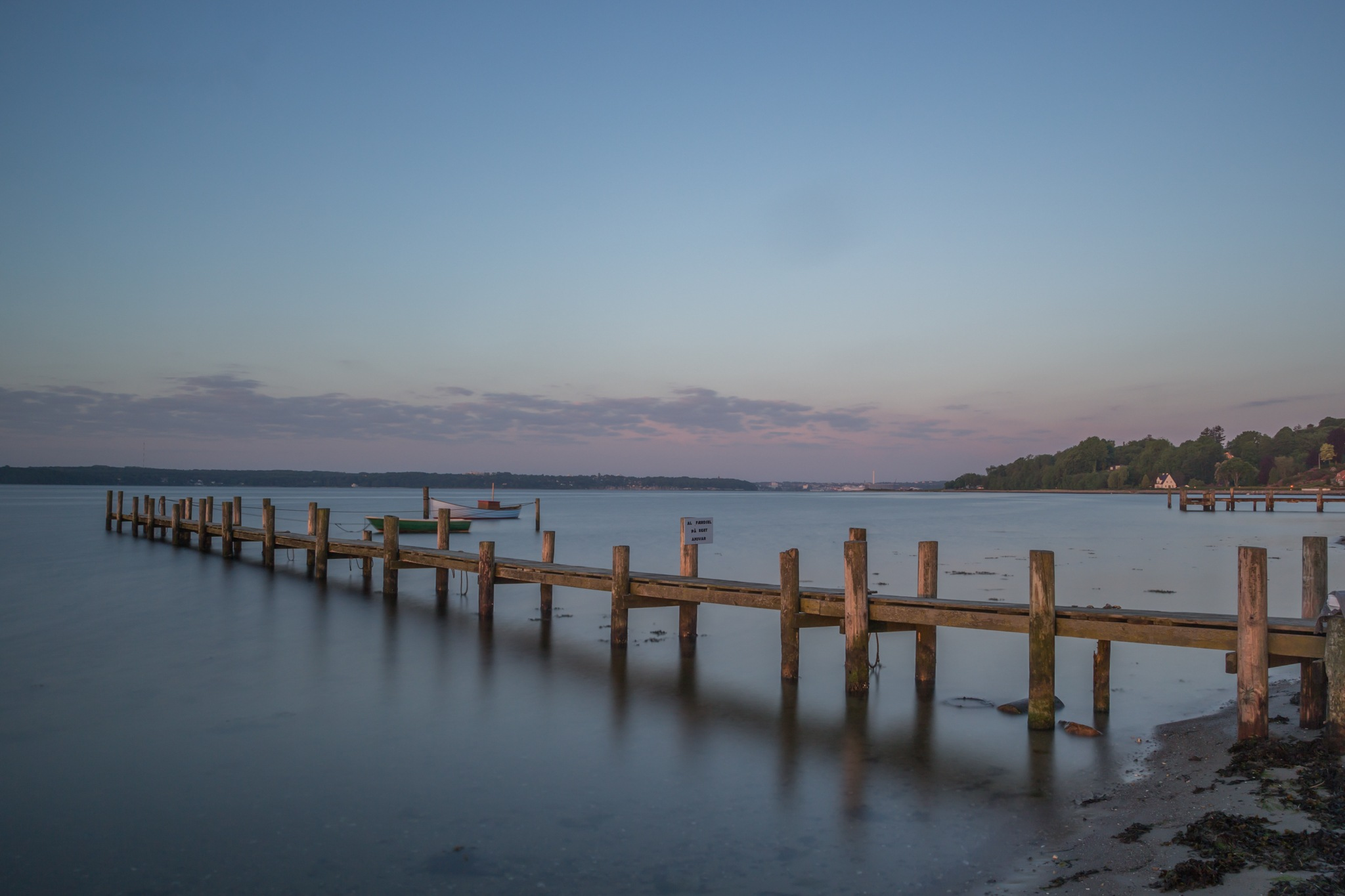 The blue hour at Flensburg fjord by Kjeld Jensen