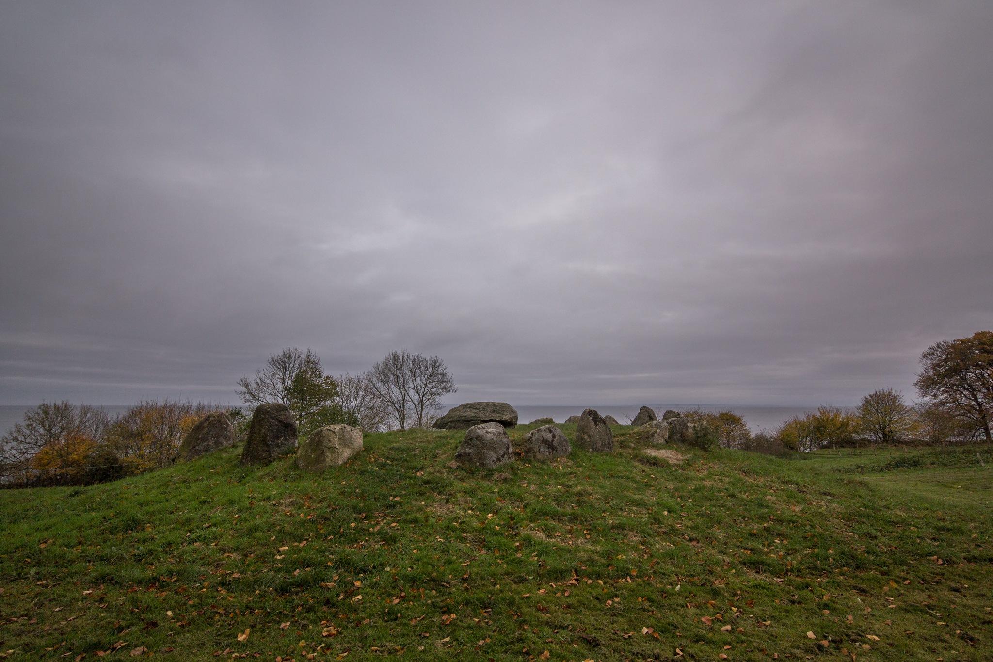 Round dolmen 3000 BC  by Kjeld Jensen