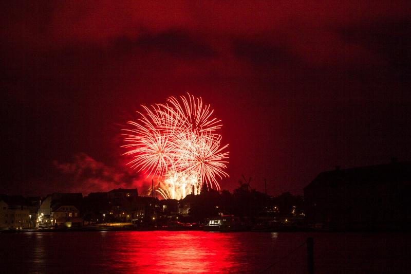 Fireworks in Sønderborg  by Kjeld Jensen