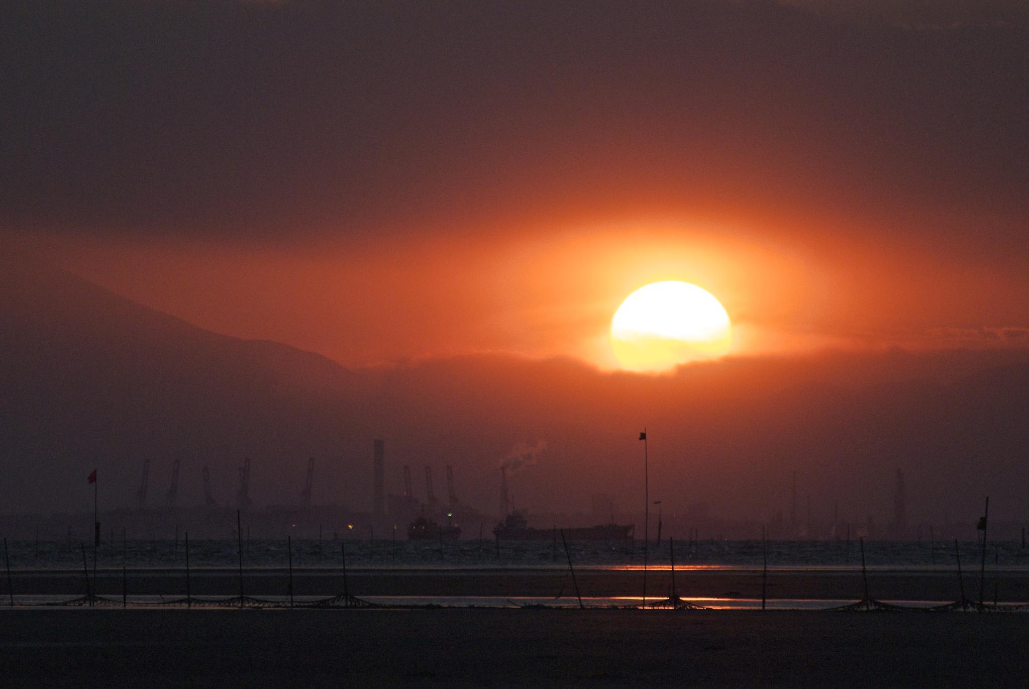 Photo in Landscape #sunset #tokyo #japan #sky