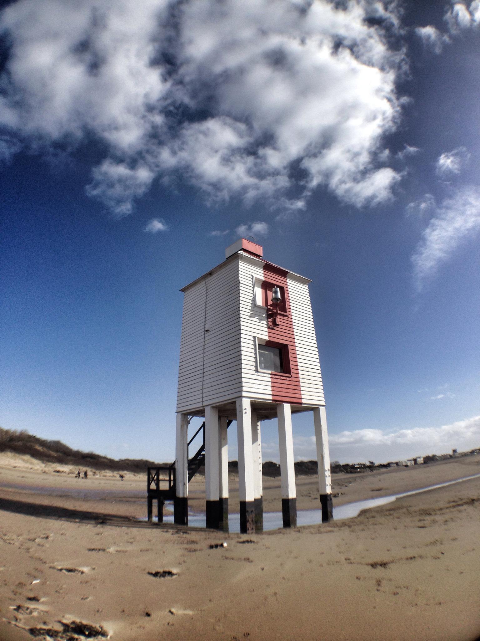 Wooden lighthouse at burnham  by debi.Moss.3