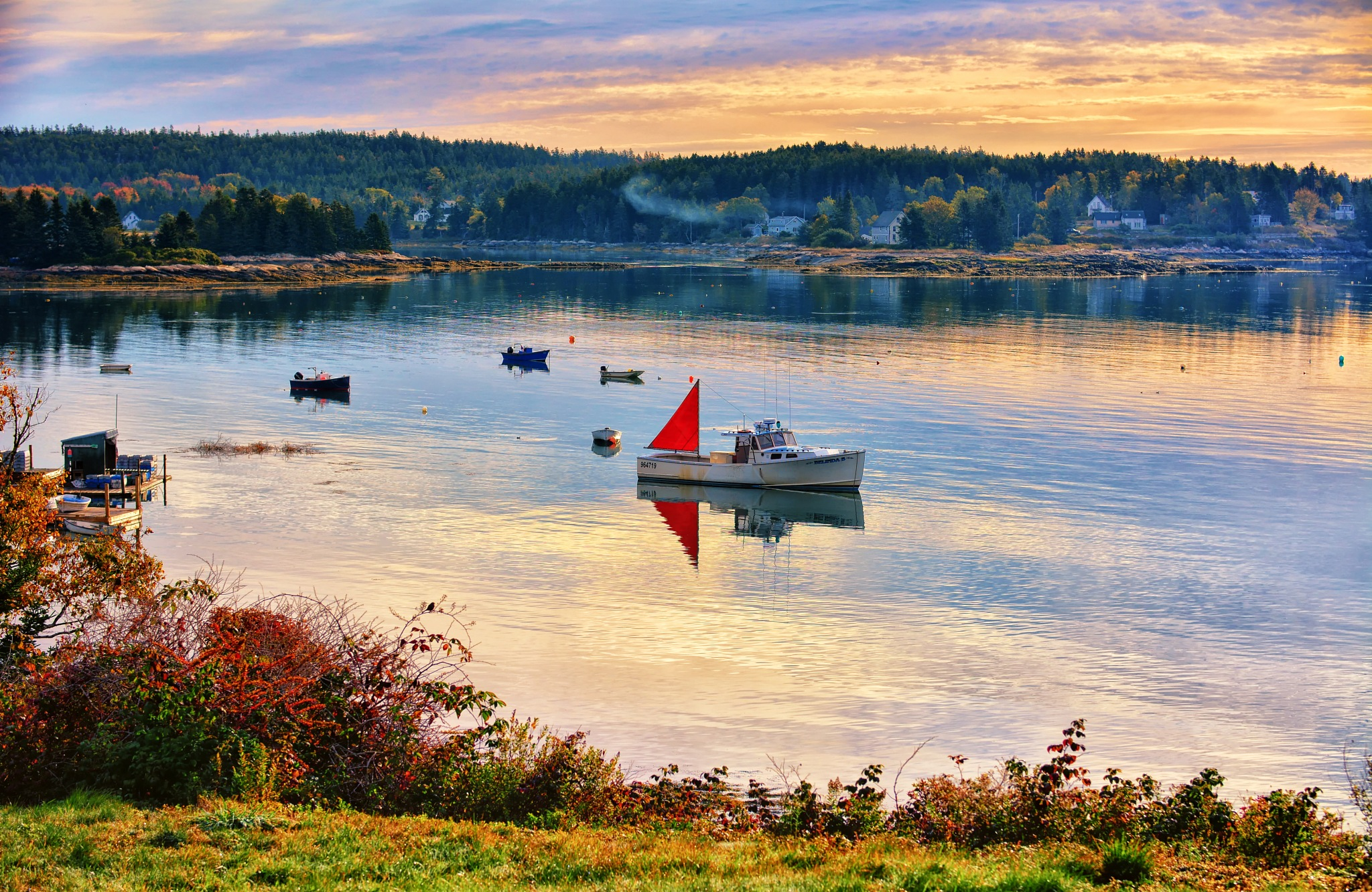 Morning on the Harbor by James Gramm