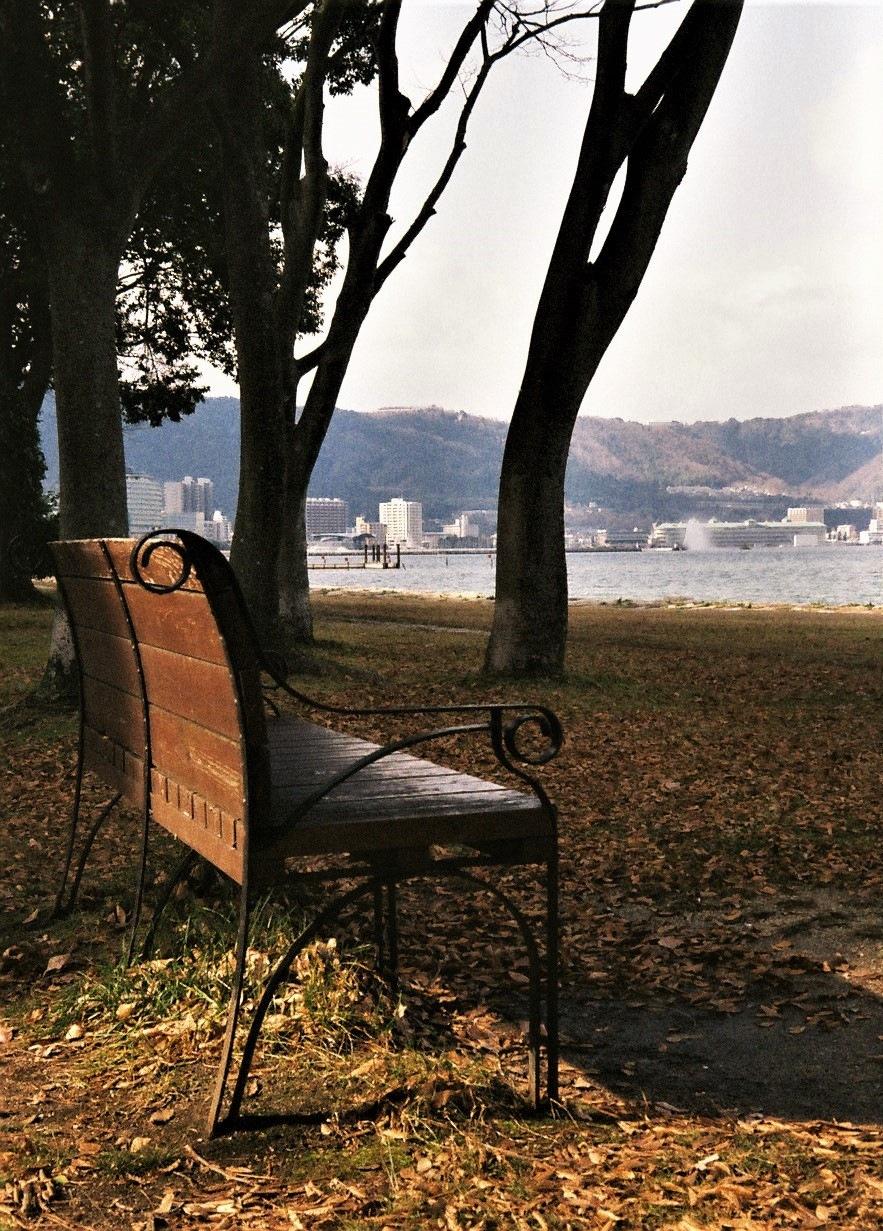 Lakeside bench by SANRI