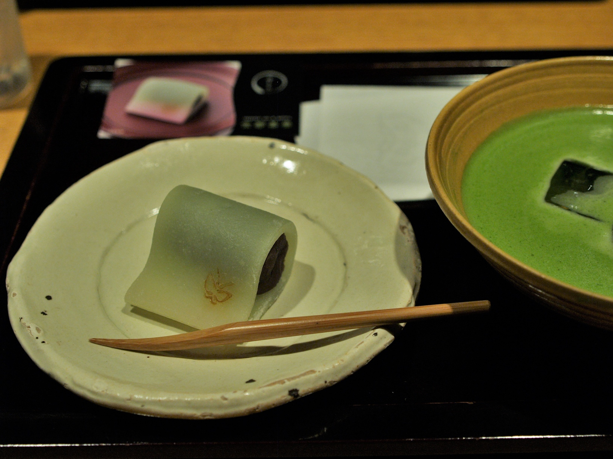 Japanese sweets and cold Matcha by SANRI